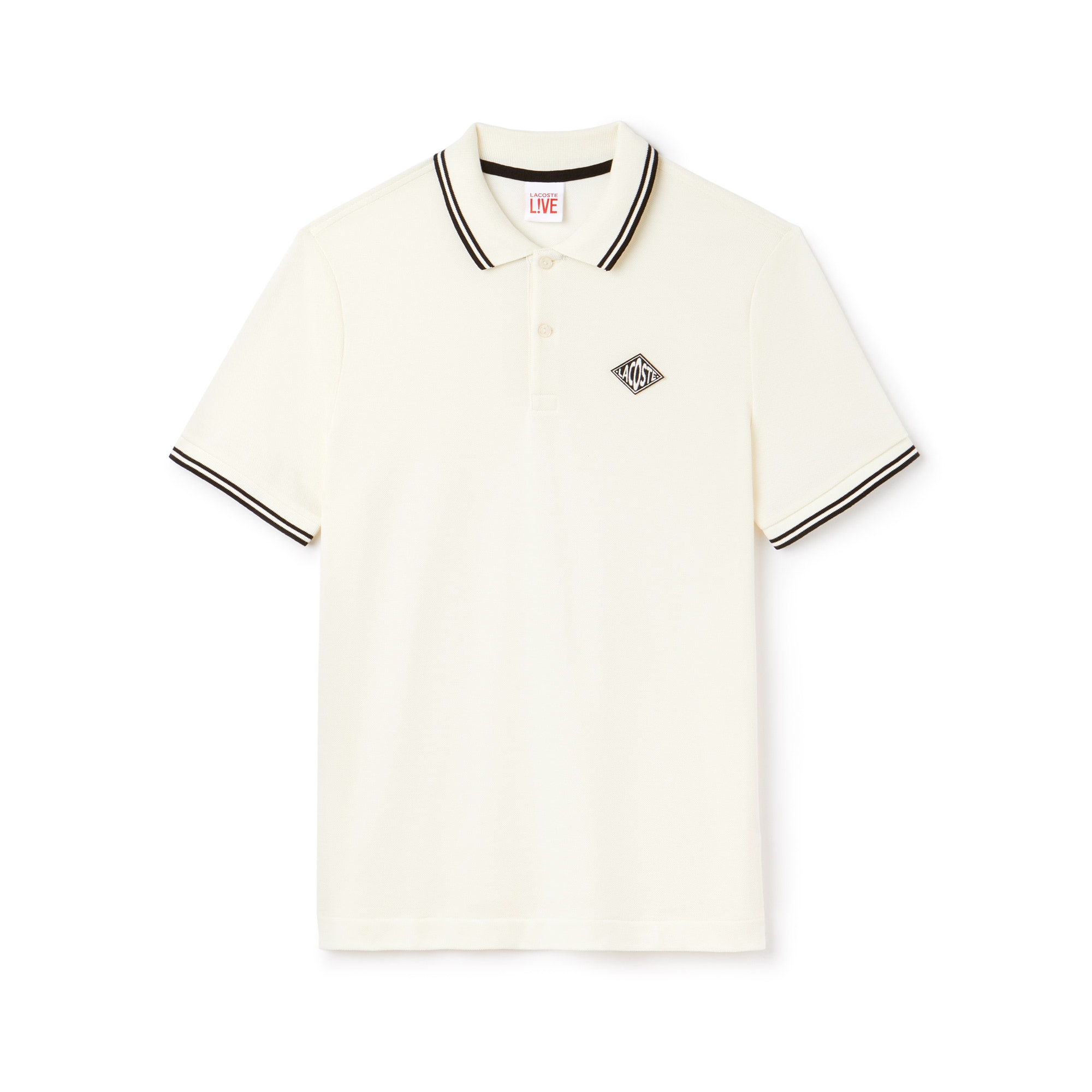 Men's Lacoste LIVE Slim Fit Bands And Badge Cotton Petit Piqué Polo
