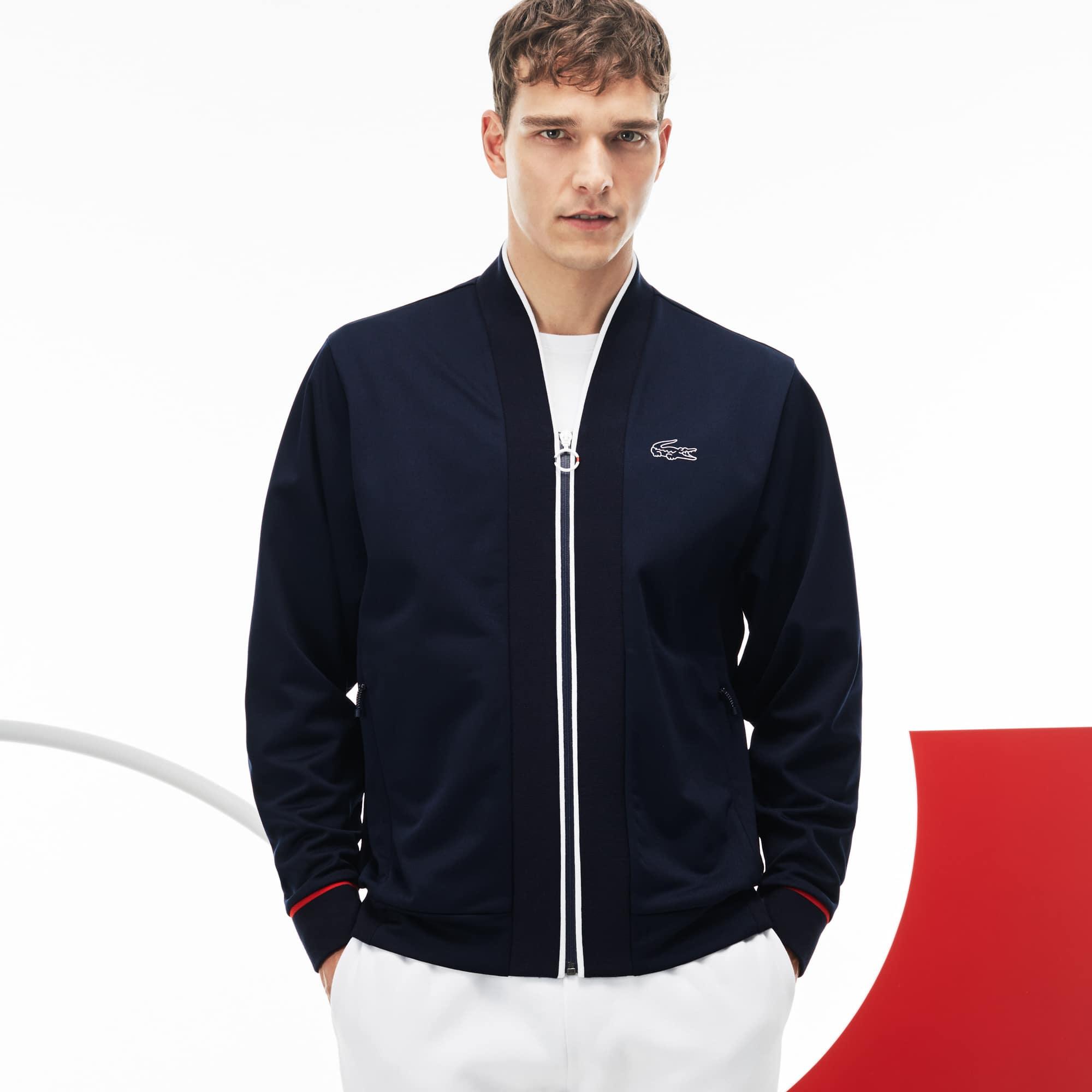 Men's Lacoste SPORT COLLECTION TRICOLORE Edition Tech Piqué Zip Sweatshirt