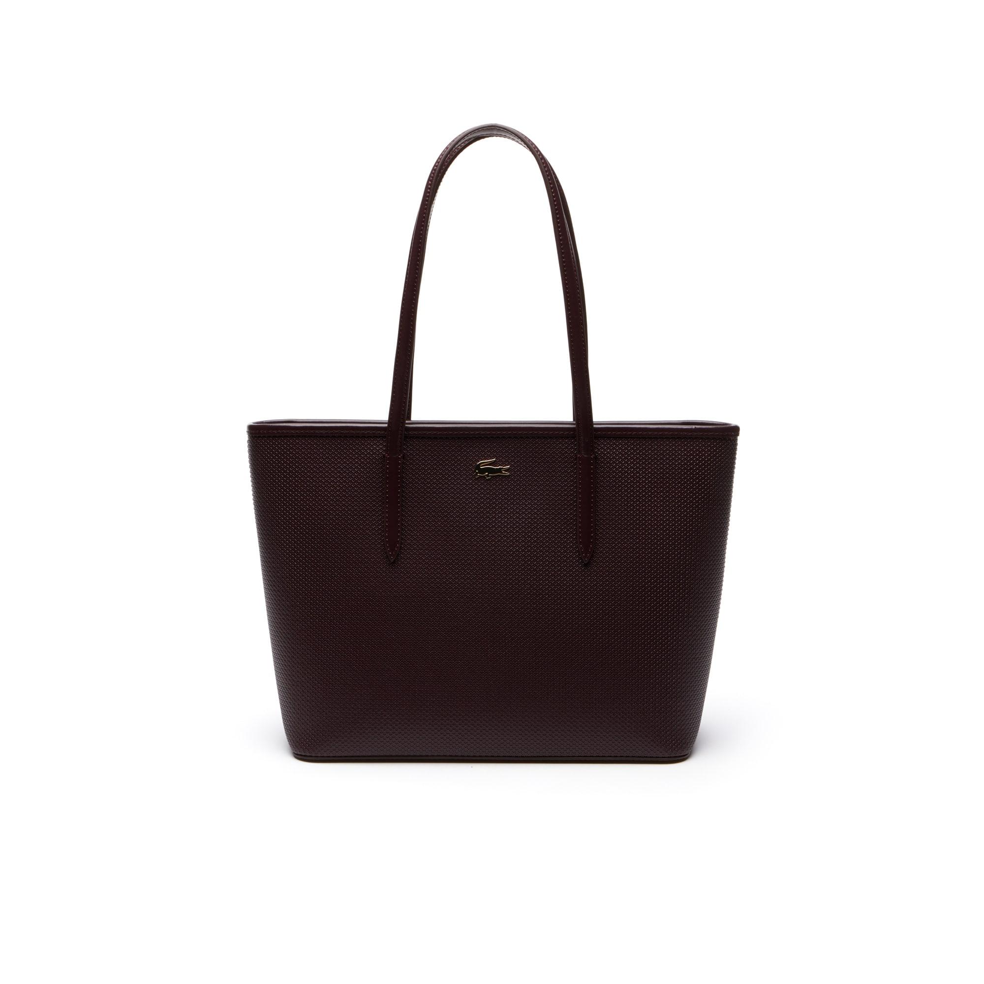 Women's Chantaco Zippered Piqué Leather Tote Bag