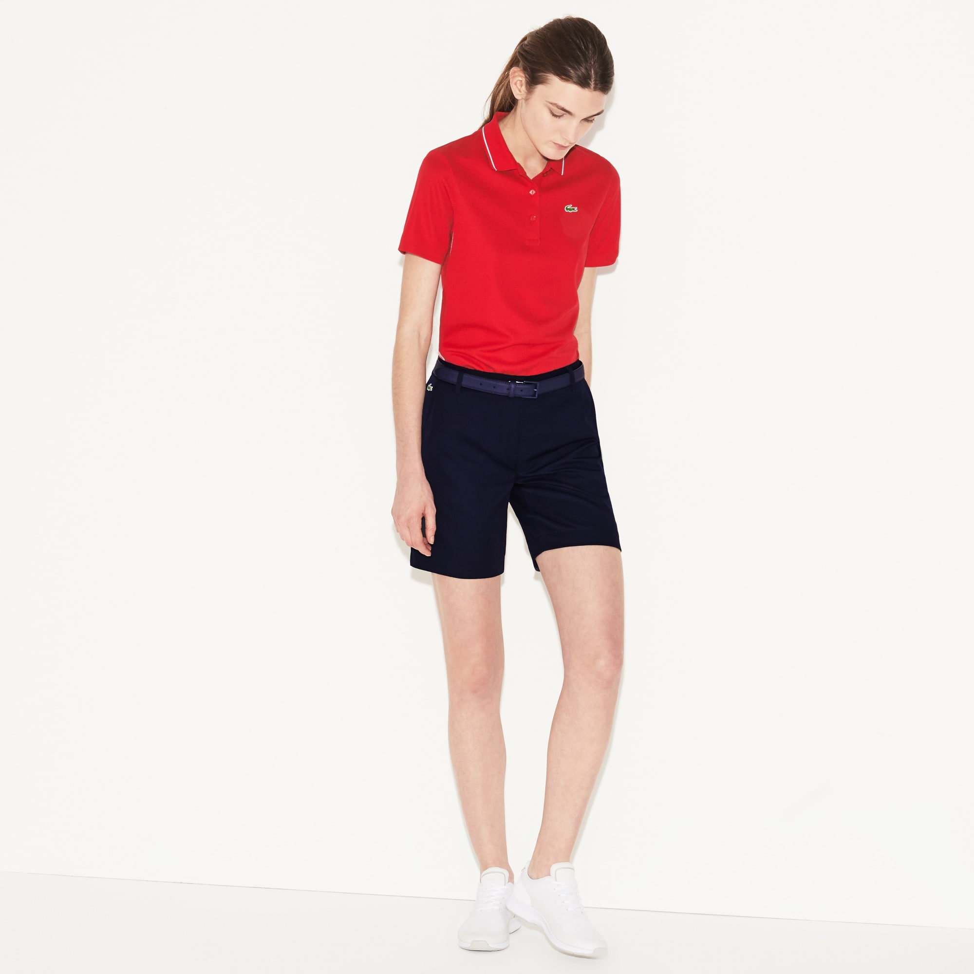 Women's Lacoste SPORT Technical Gabardine Golf Bermuda Shorts