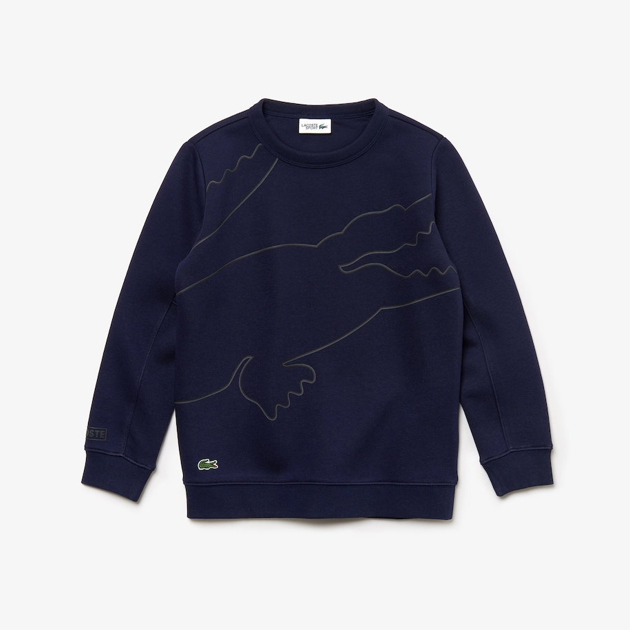 Boys' Lacoste SPORT Oversized Croc Fleece Tennis Sweatshirt