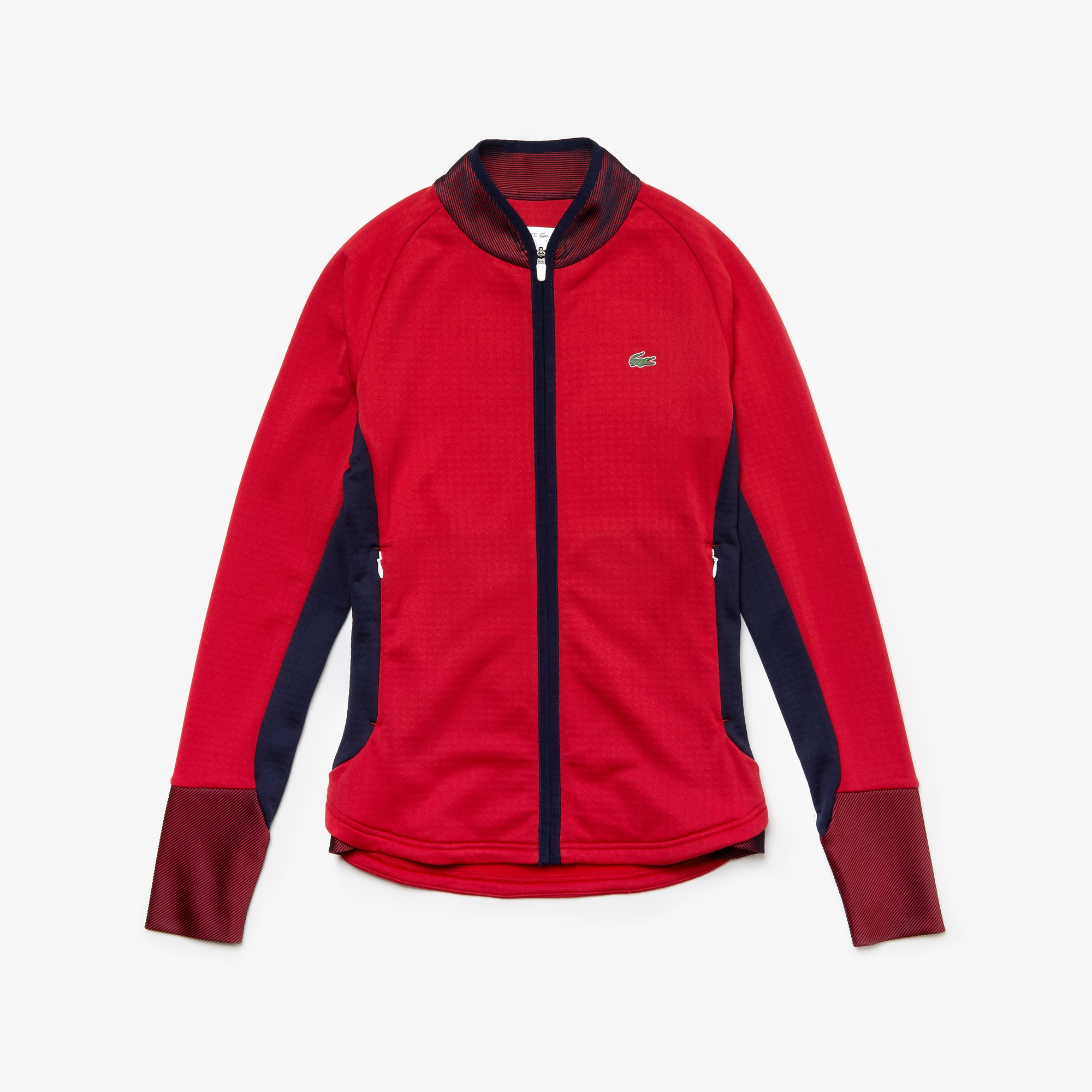 Women's Lacoste SPORT Breathable Stretch Bi material Zip Golf Jacket