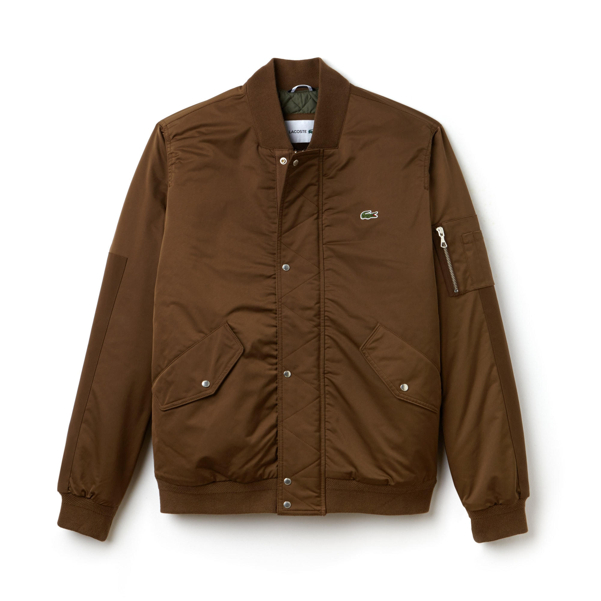 Men's Contrast Finish Quilted Water-Resistant Bomber