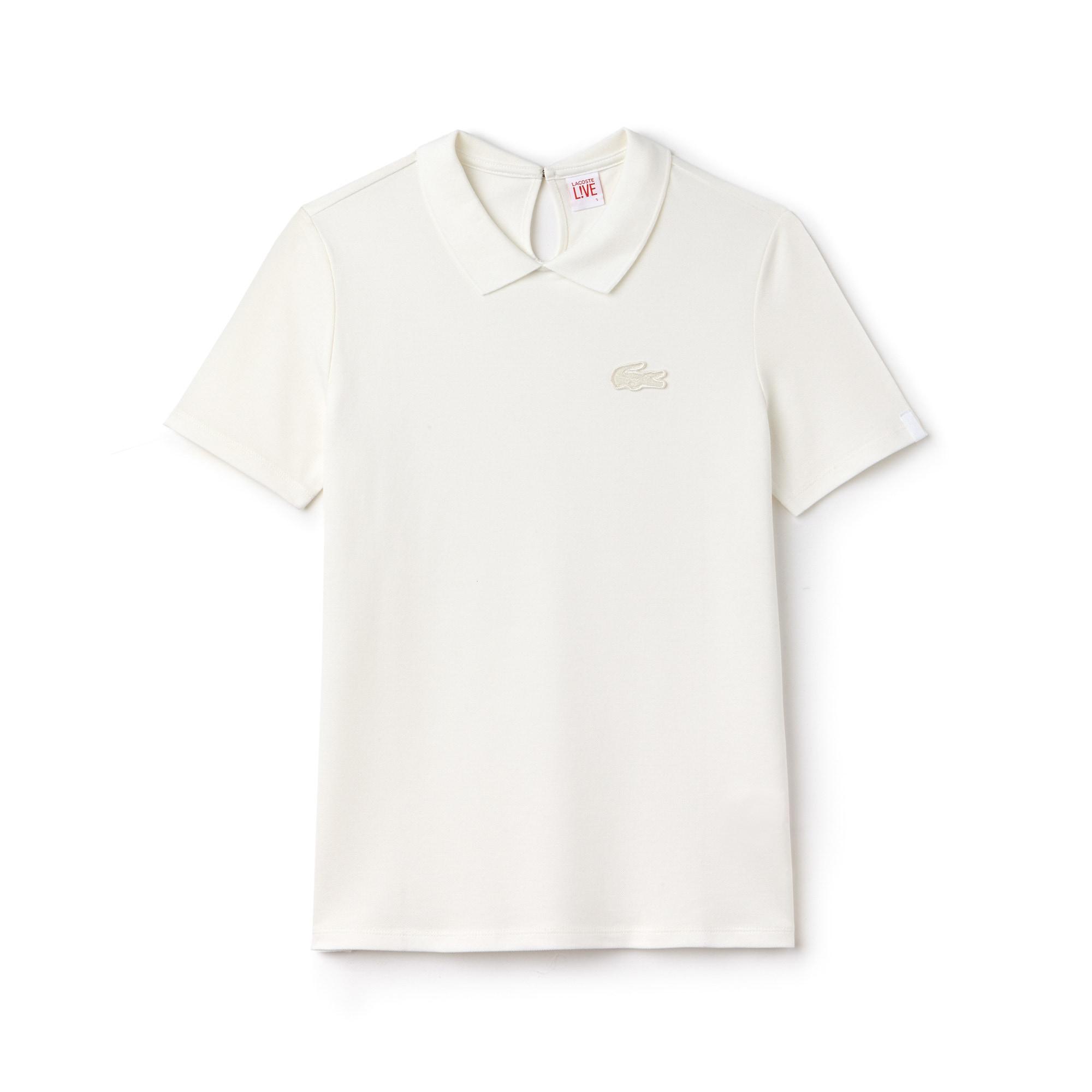 Women's Lacoste LIVE Teardrop Opening Mini Piqué Polo