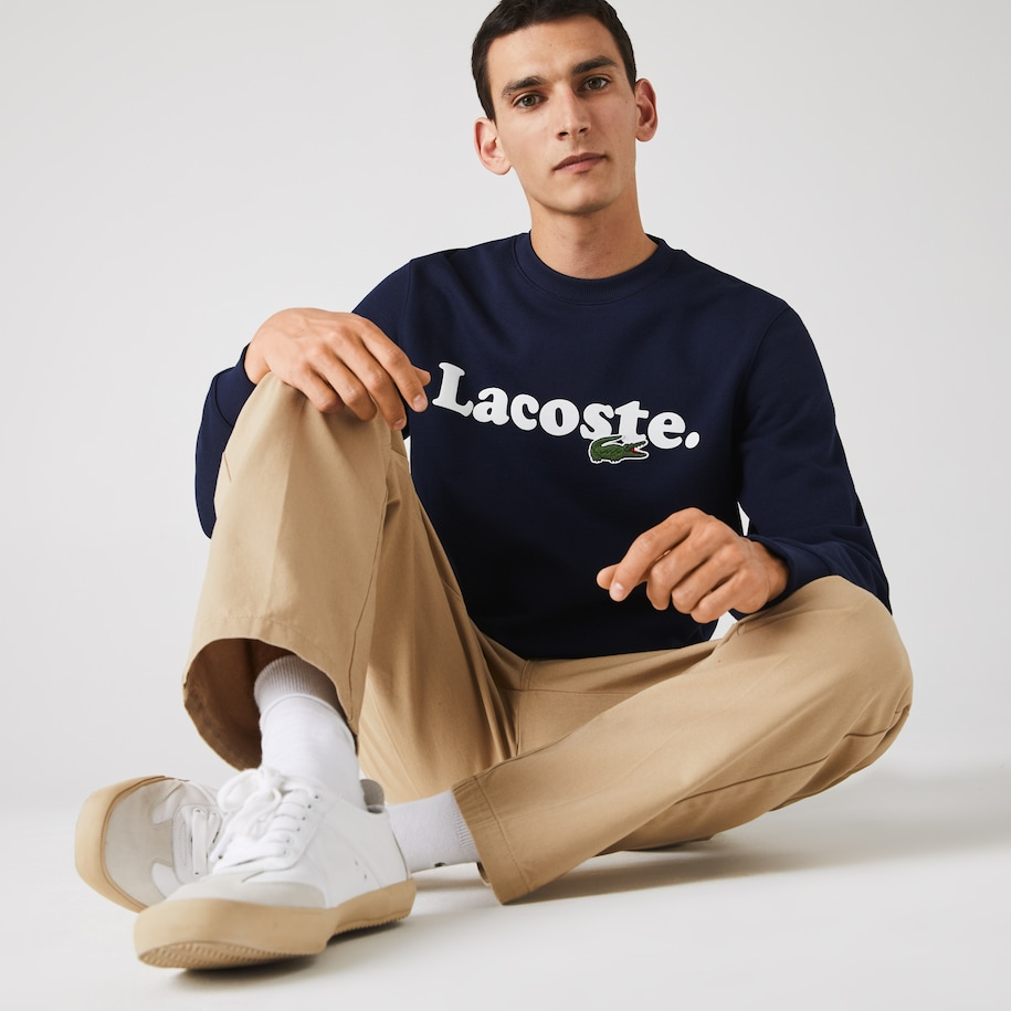 Men's Lacoste And Crocodile Branded Fleece Sweatshirt