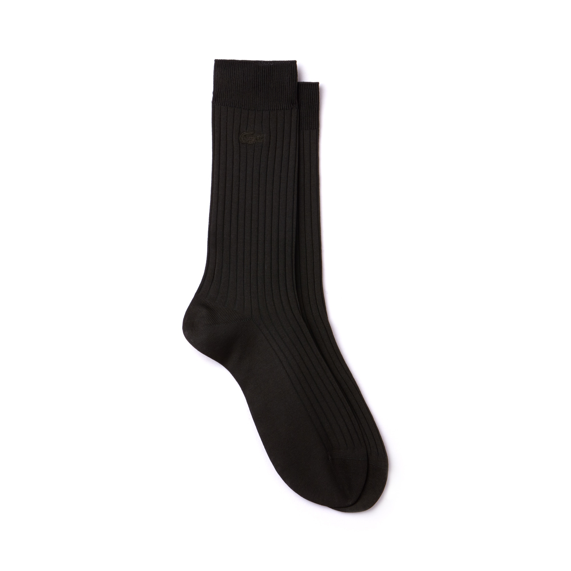 Men's Ribbed solid socks in mercerized cotton blend