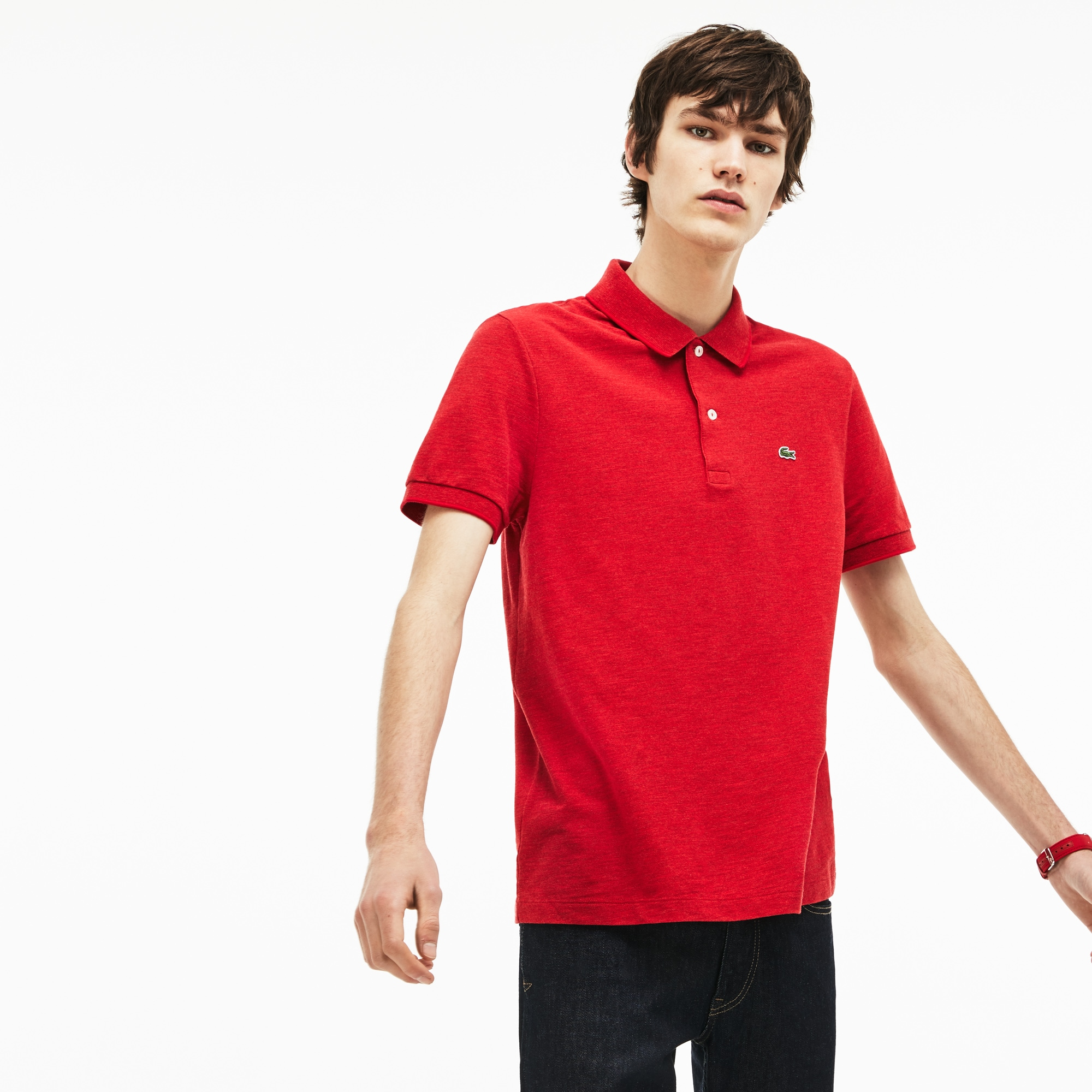 Men's Lacoste Regular Fit Flamme Piqué Polo Shirt