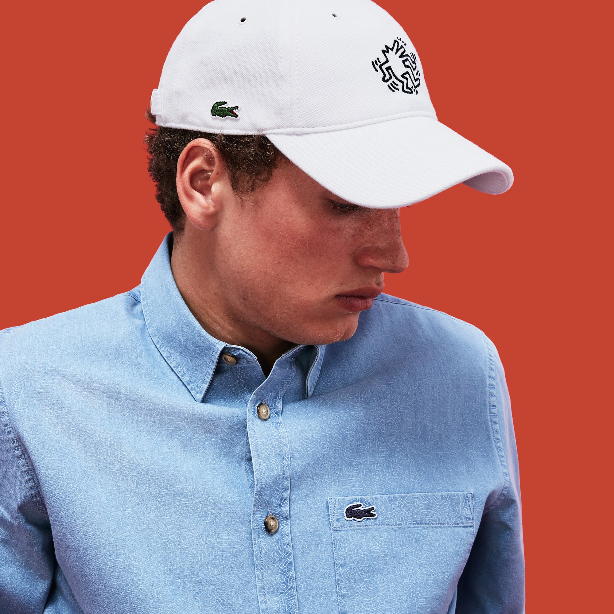 1f78abc2d5c Men's Keith Haring Embroidered Cotton Cap | LACOSTE