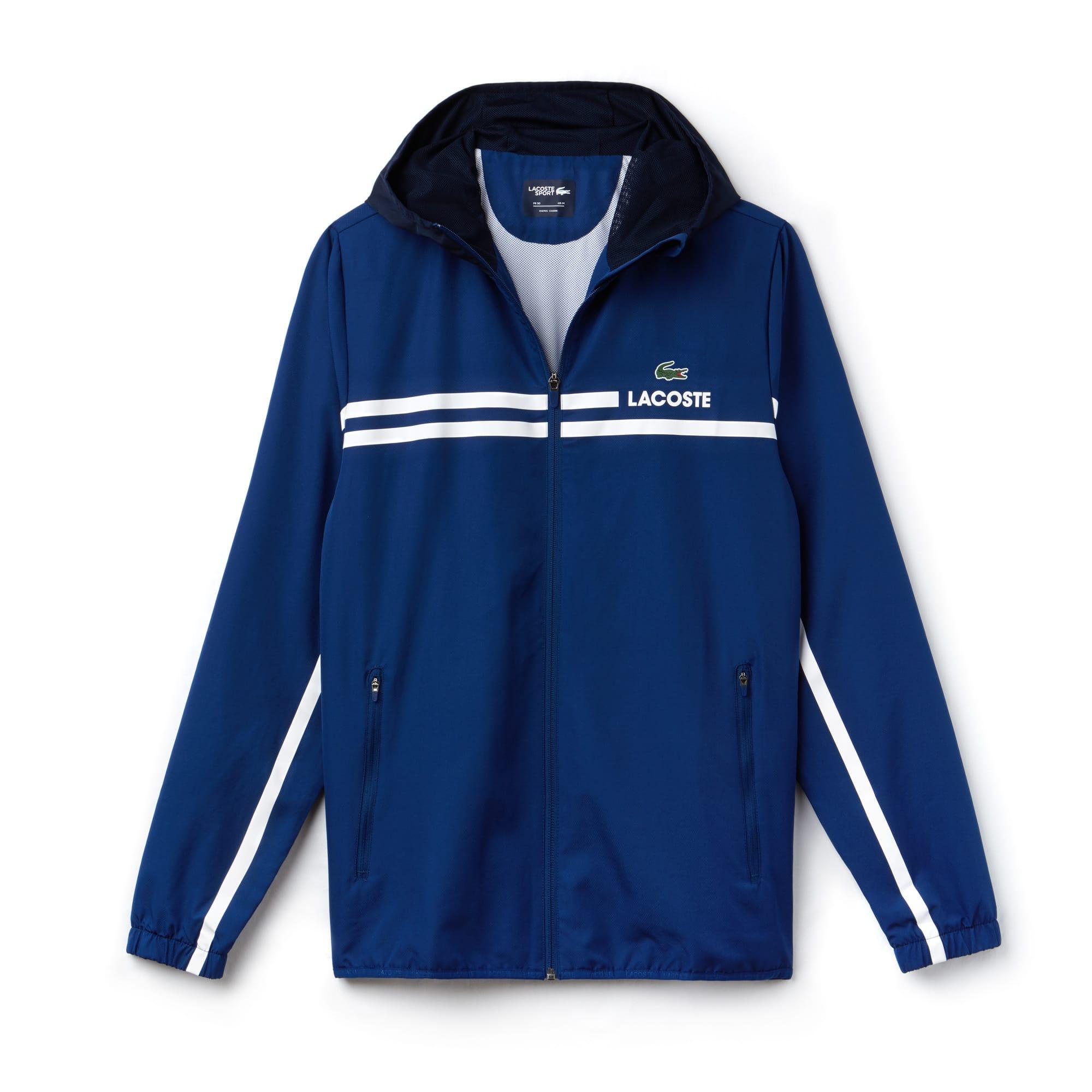 Men's Lacoste SPORT Hooded Taffeta And Mesh Tennis Jacket