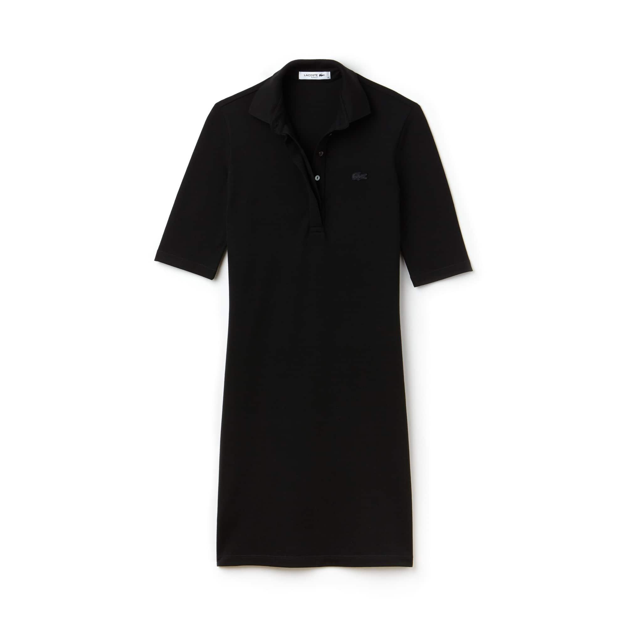 Women's Slim Fit Stretch Mini Piqué Polo Dress