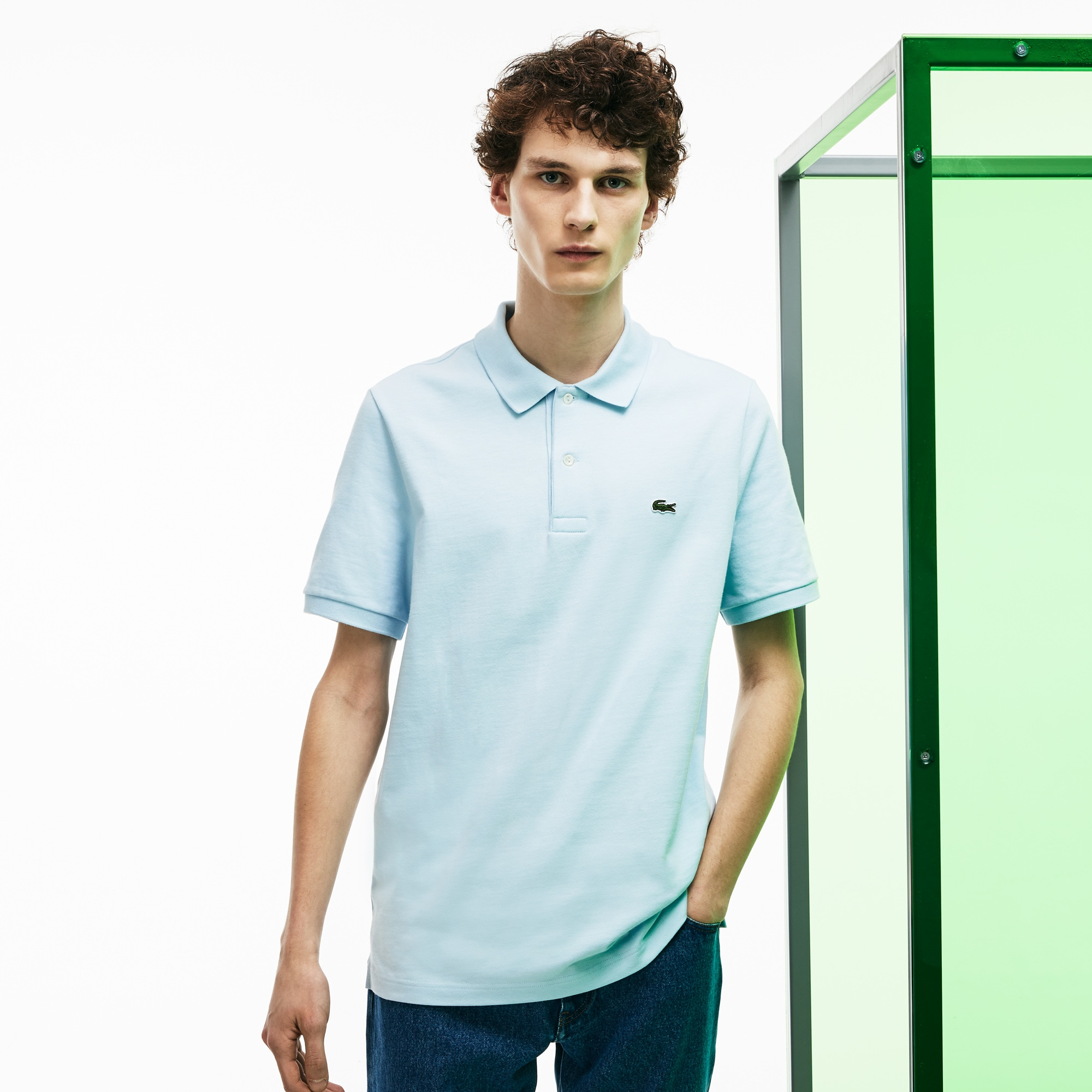 Men's Lacoste Fashion Show Thick Cotton Jersey Polo