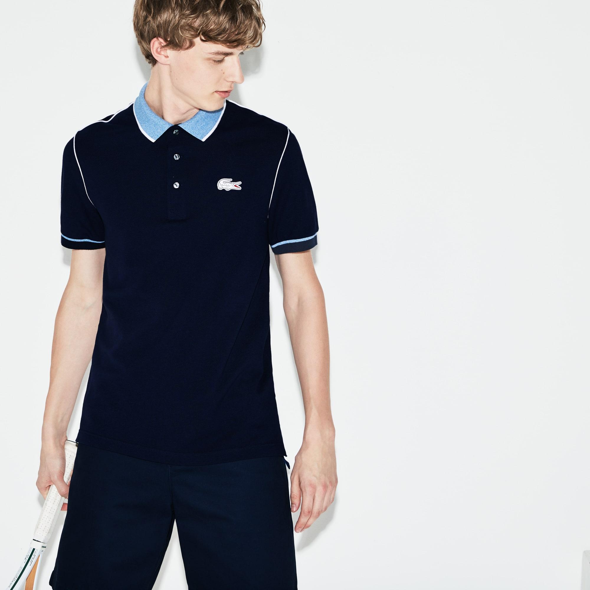 Men's Lacoste SPORT Roland Garros Edition Piped Piqué Polo Shirt