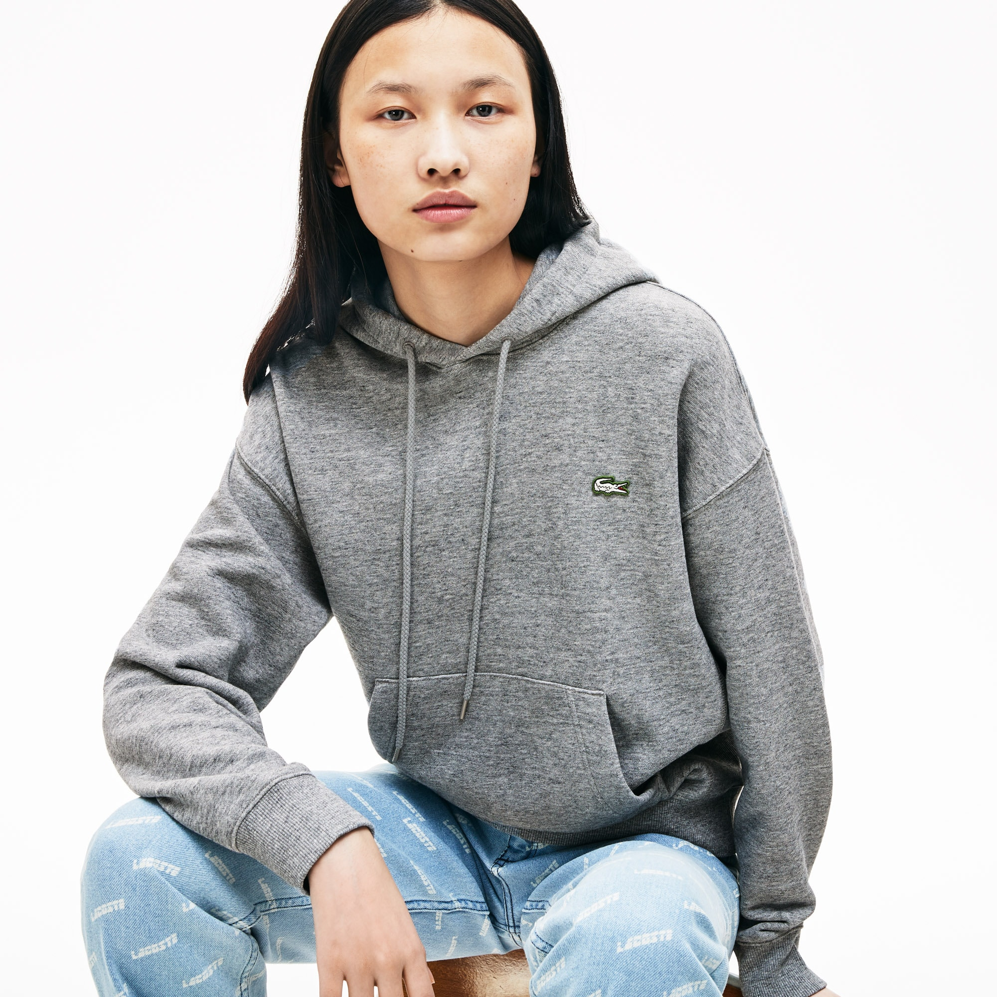 Unisex Lacoste LIVE Hooded Cotton Sweatshirt