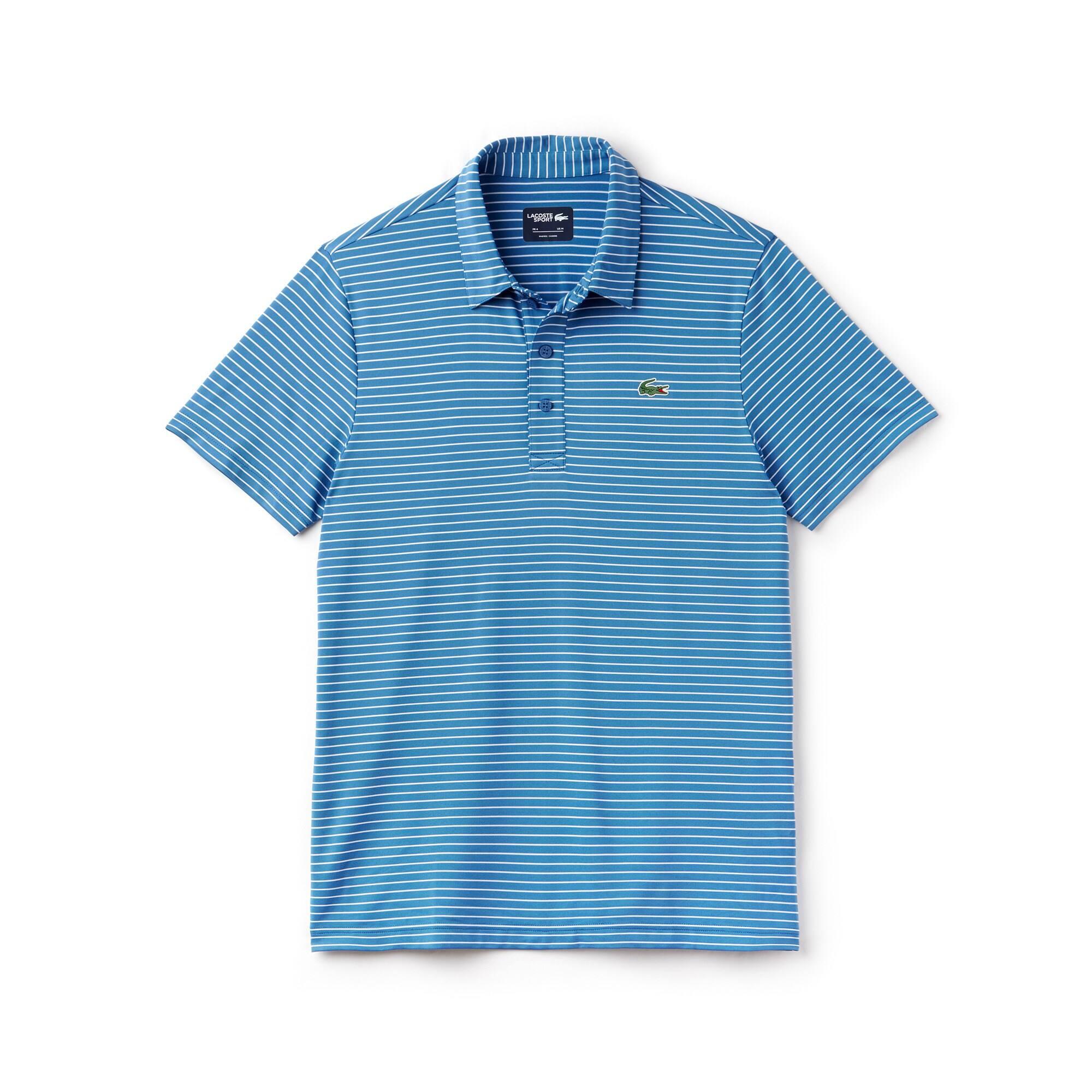 Men's Lacoste SPORT Striped Stretch Technical Jersey Golf Polo Shirt