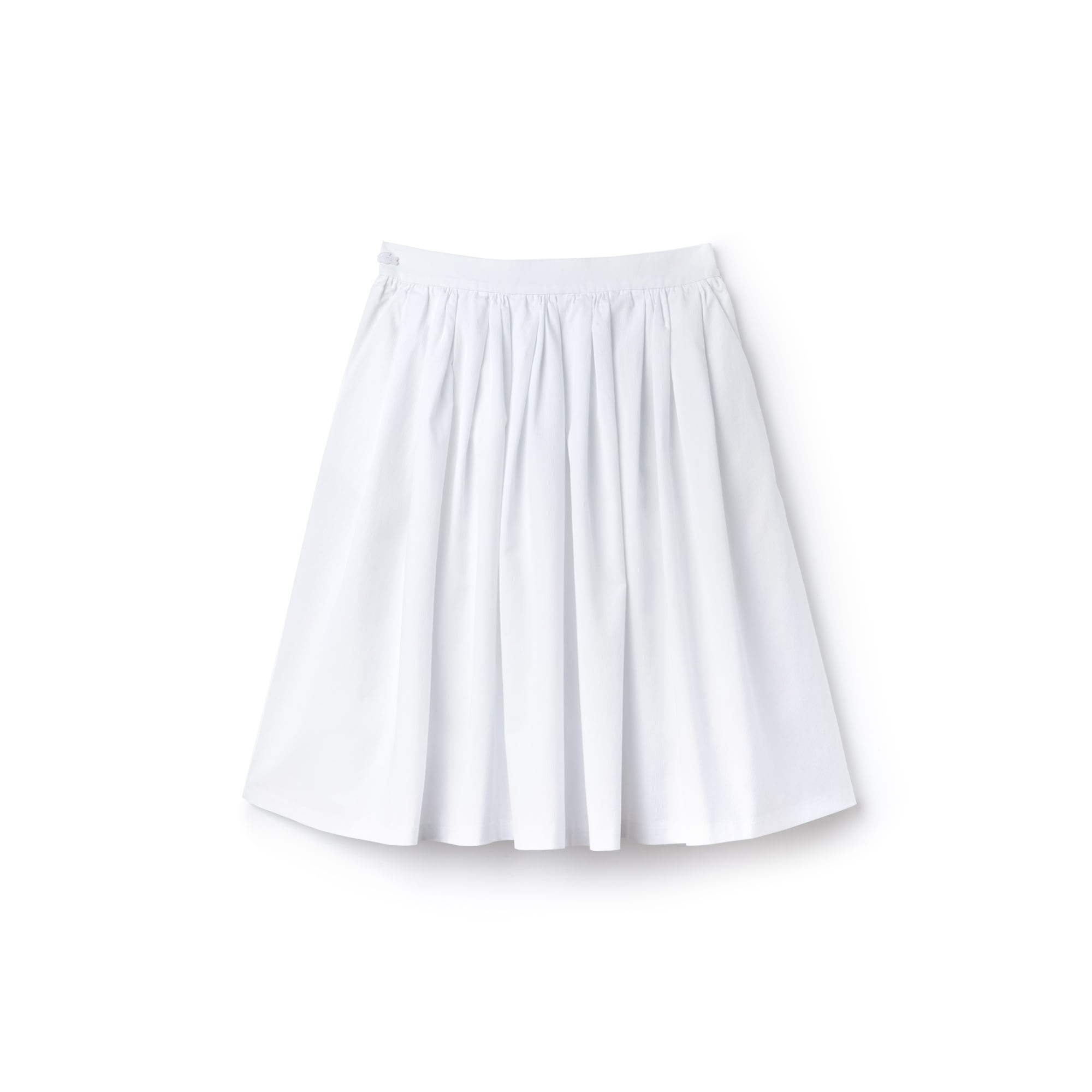 Women's Texturized Cotton Gathered Mid-Length Skirt
