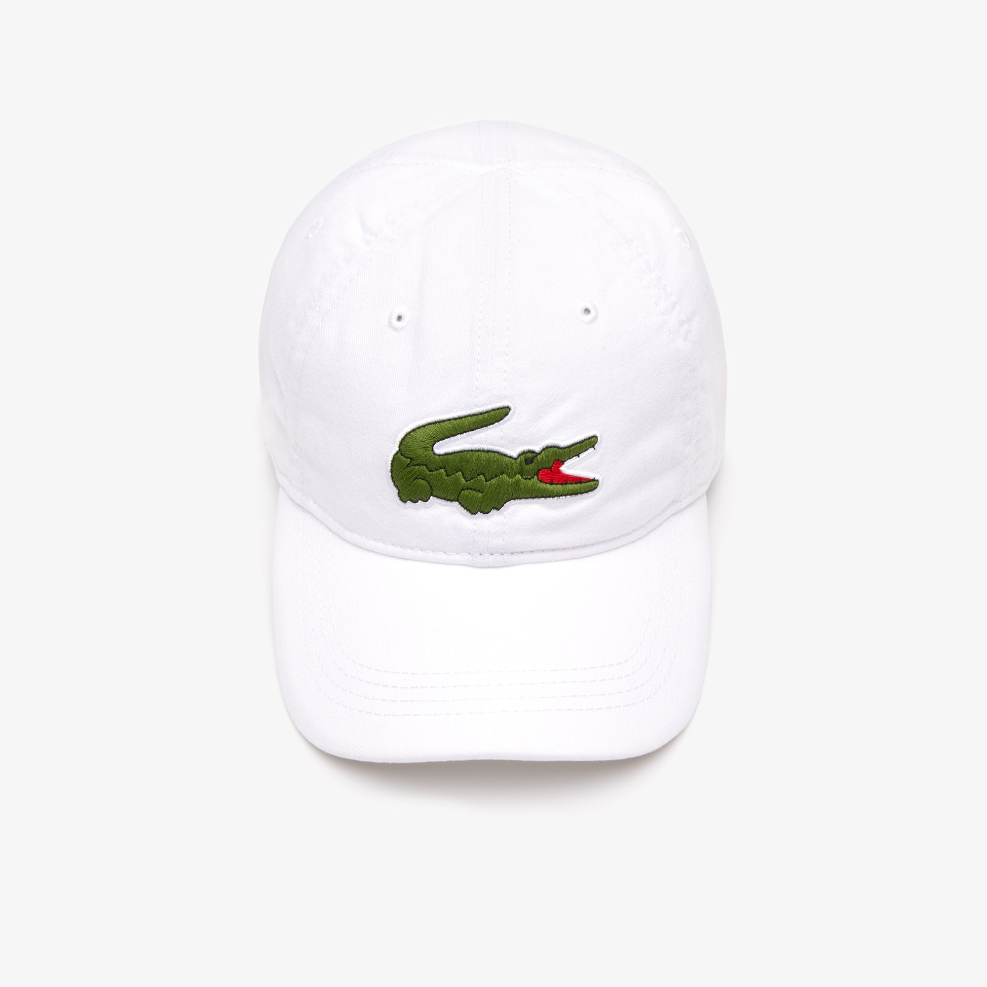 Men's Gabardine cap with oversized crocodile