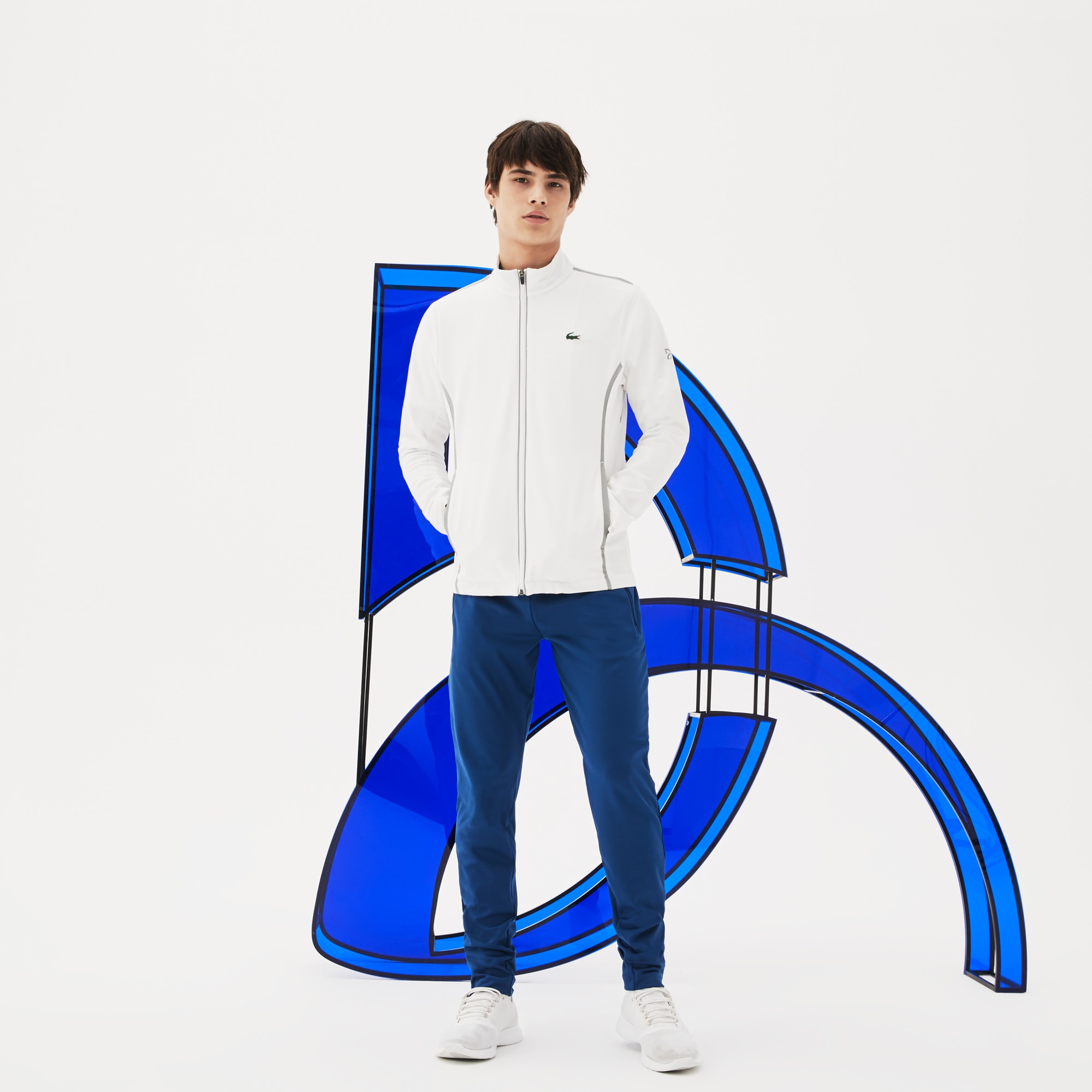 Men's Lacoste SPORT NOVAK DJOKOVIC SUPPORT WITH STYLE COLLECTION Technical Midlayer Zip Sweatshirt