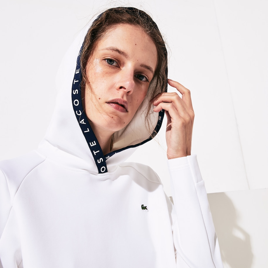 Women's Lacoste SPORT Signature Hooded Tennis Sweatshirt