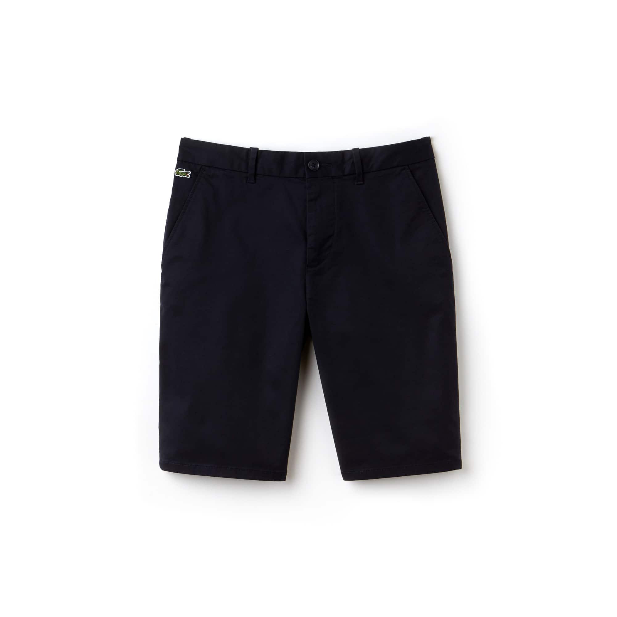 Men's Lacoste LIVE Stretch Cotton Twill Chino Cut Bermuda Shorts
