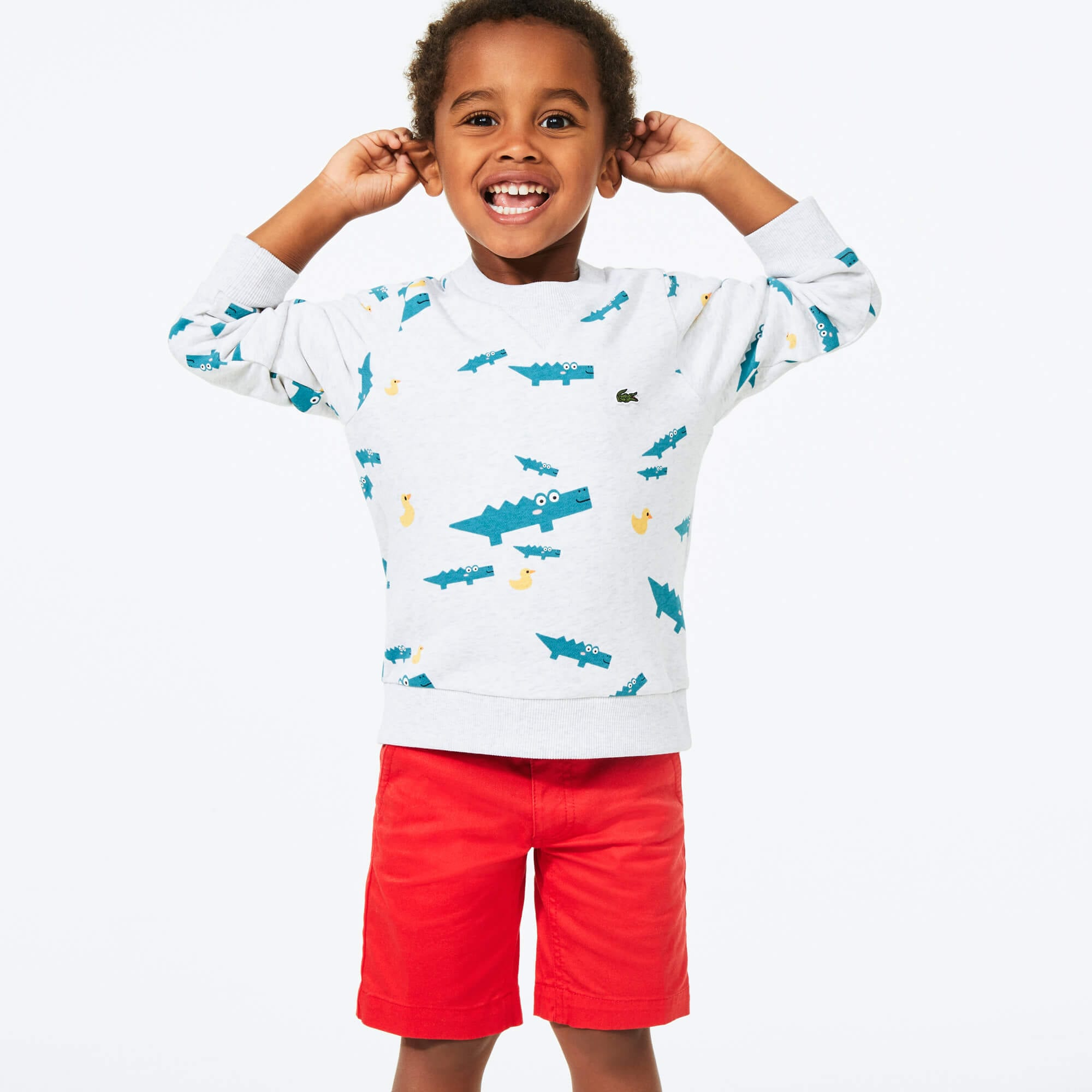 Boy's Crocodile Print Fleece Sweatshirt