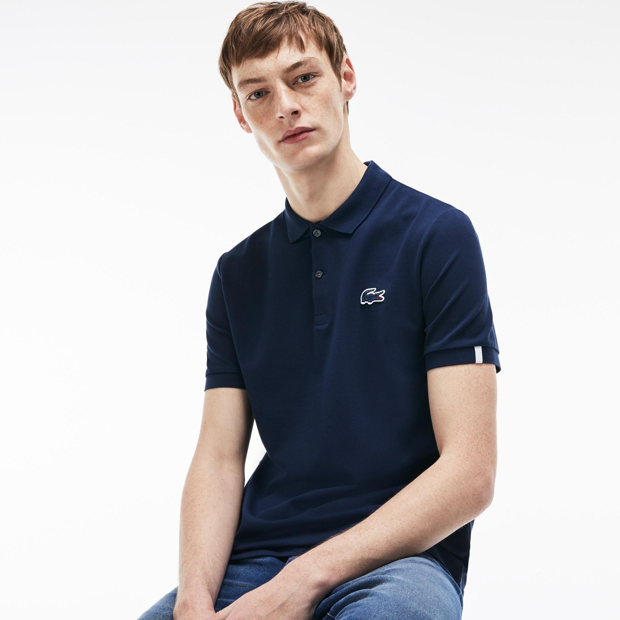 Men's Lacoste LIVE Slim Fit Stretch Mini Piqué Polo Shirt