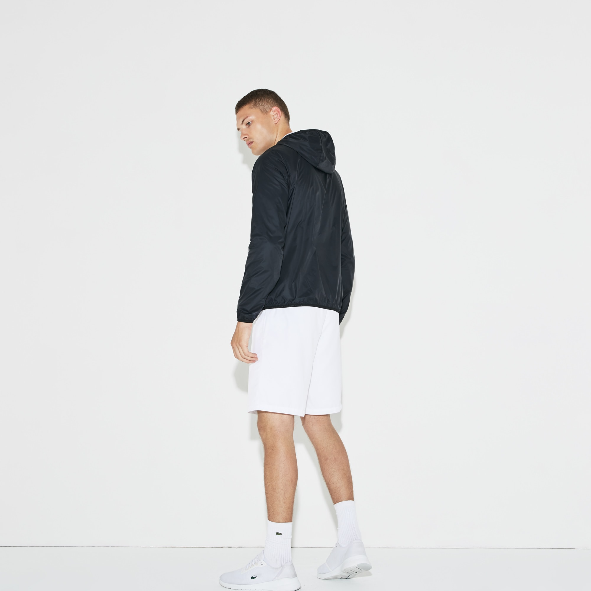 Men's Lacoste SPORT Hooded Technical Tennis Jacket
