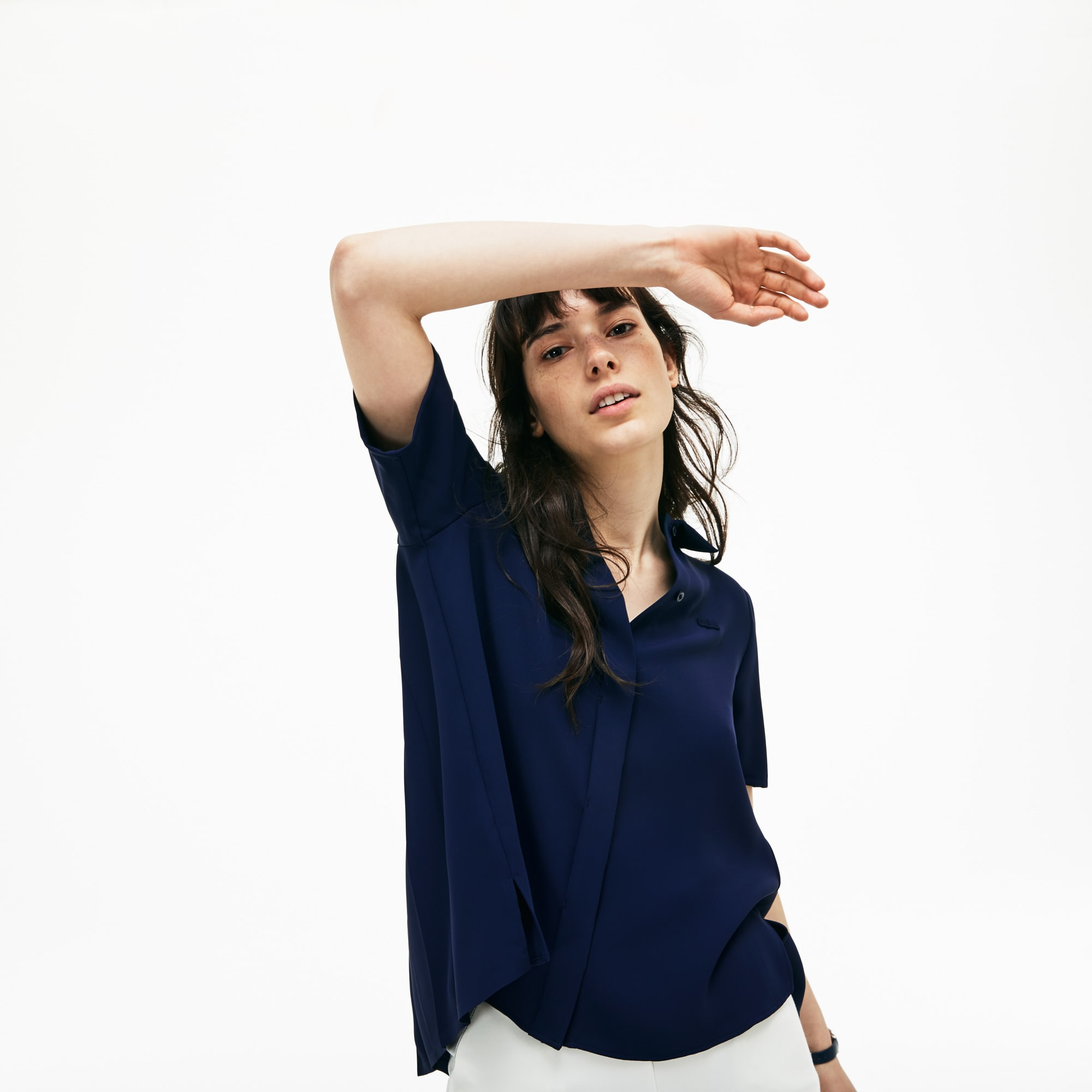 Women's Regular Fit Crepe Shirt