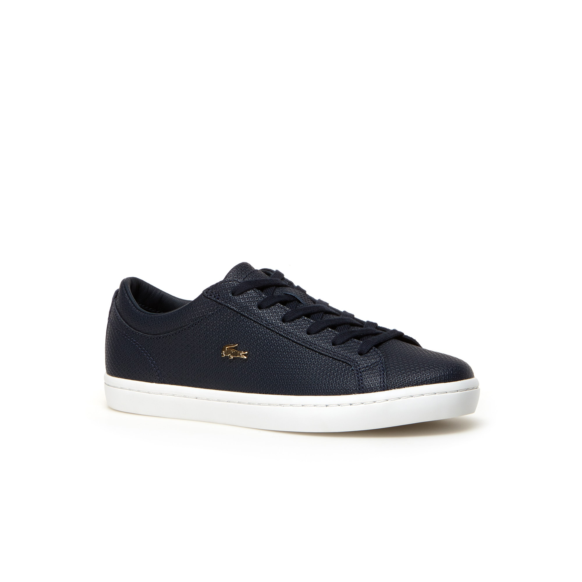 Women's Straightset Leather trainers With Golden Croc