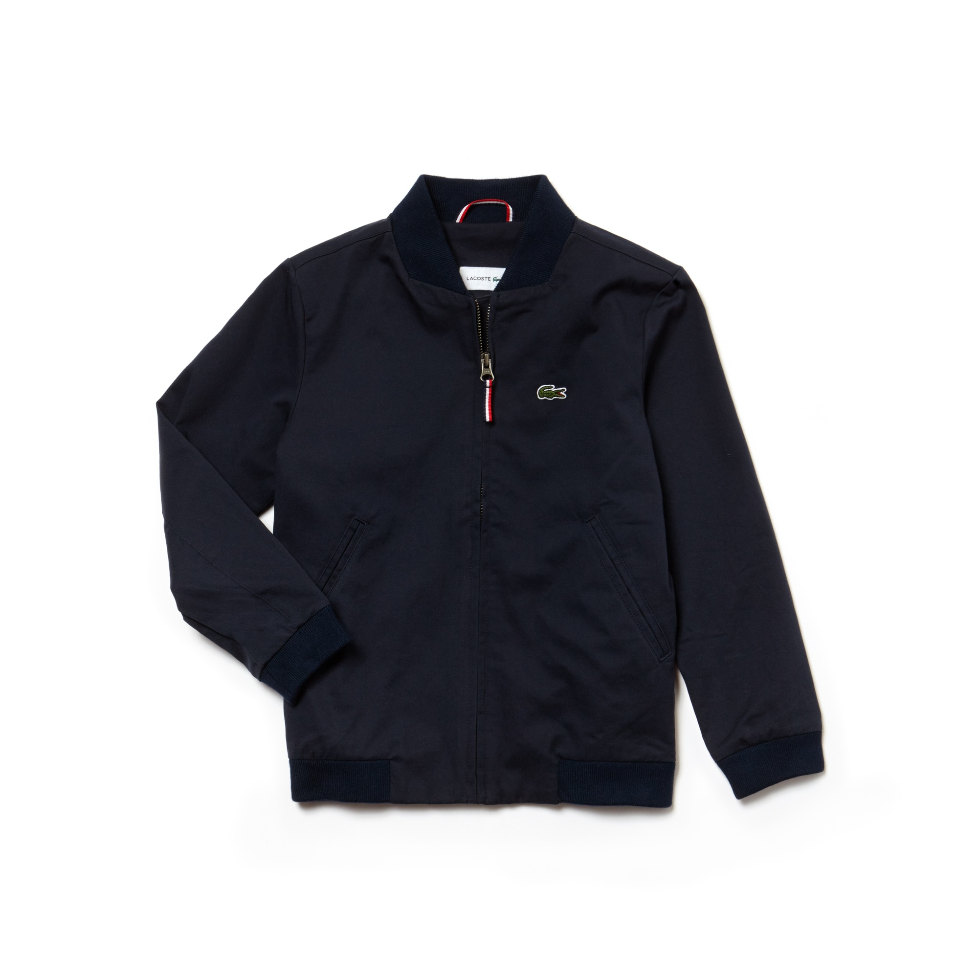 Boys' Zip Contrast Lining Gabardine And Twill Zip Bomber
