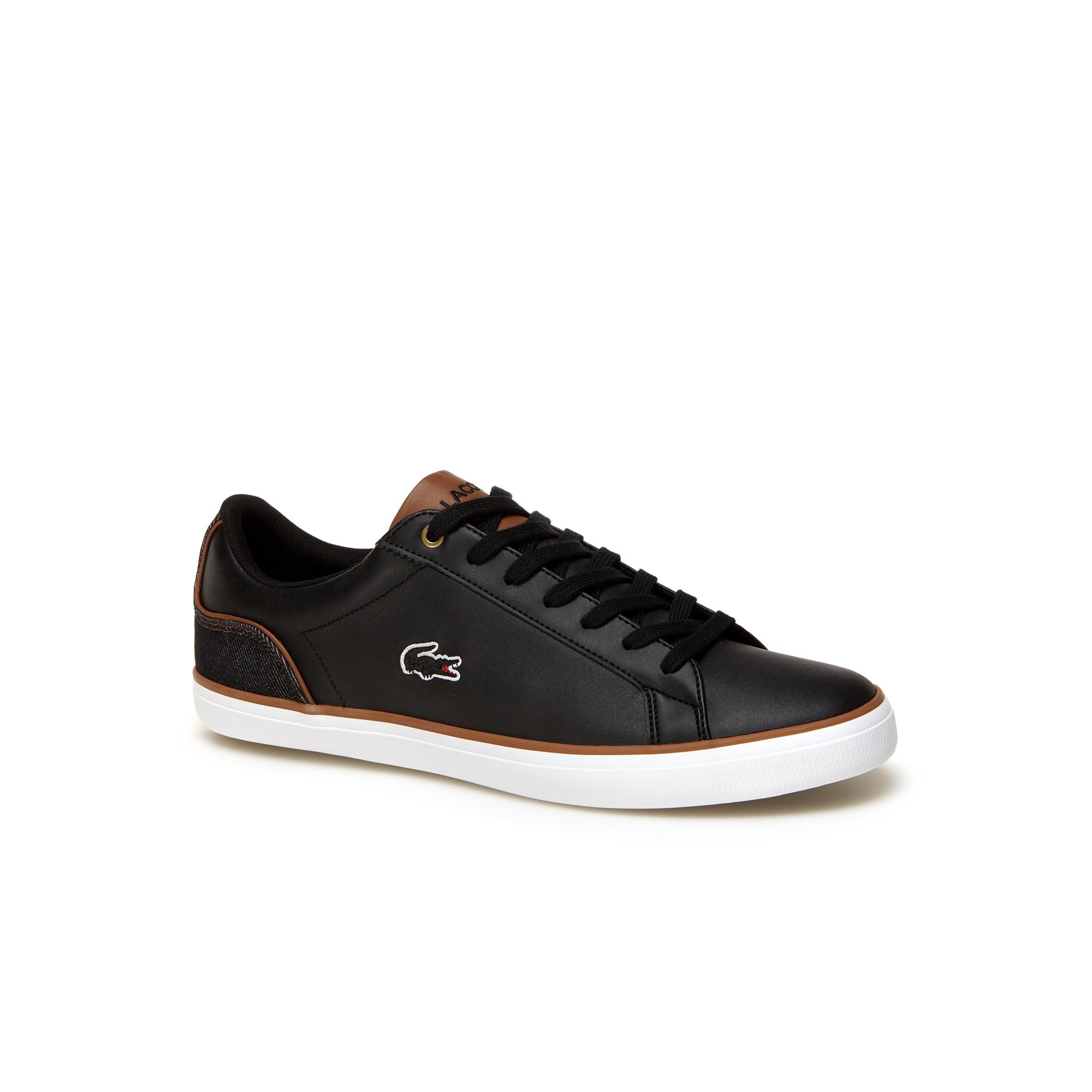 Men's Lerond Leather and Denim Trainers