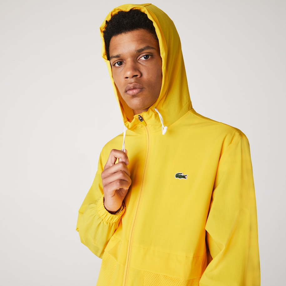 Men's Lacoste SPORT Hooded Taffeta-Lined Windbreaker