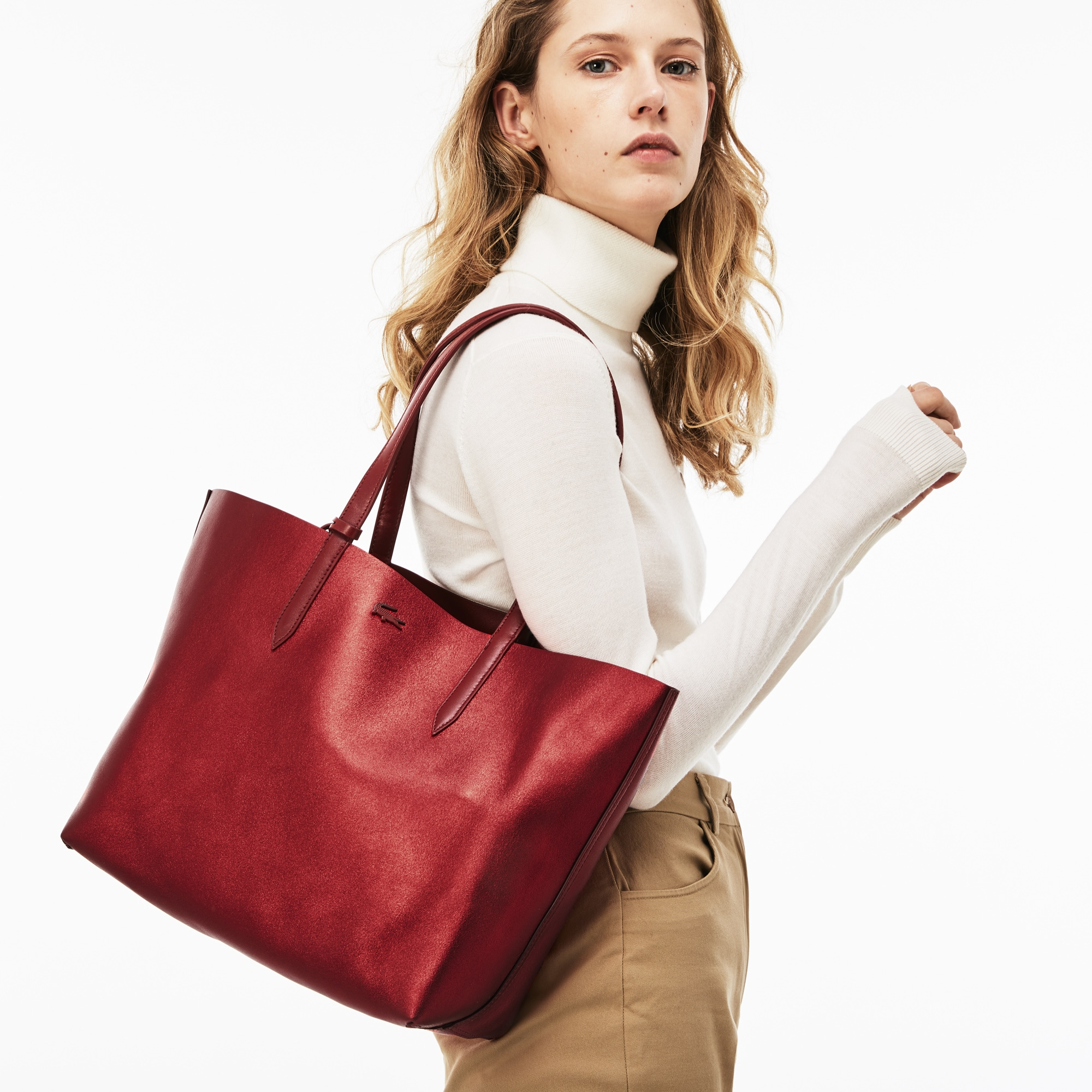 Women's Anna Reversible Matte And Iridescent Leather Tote