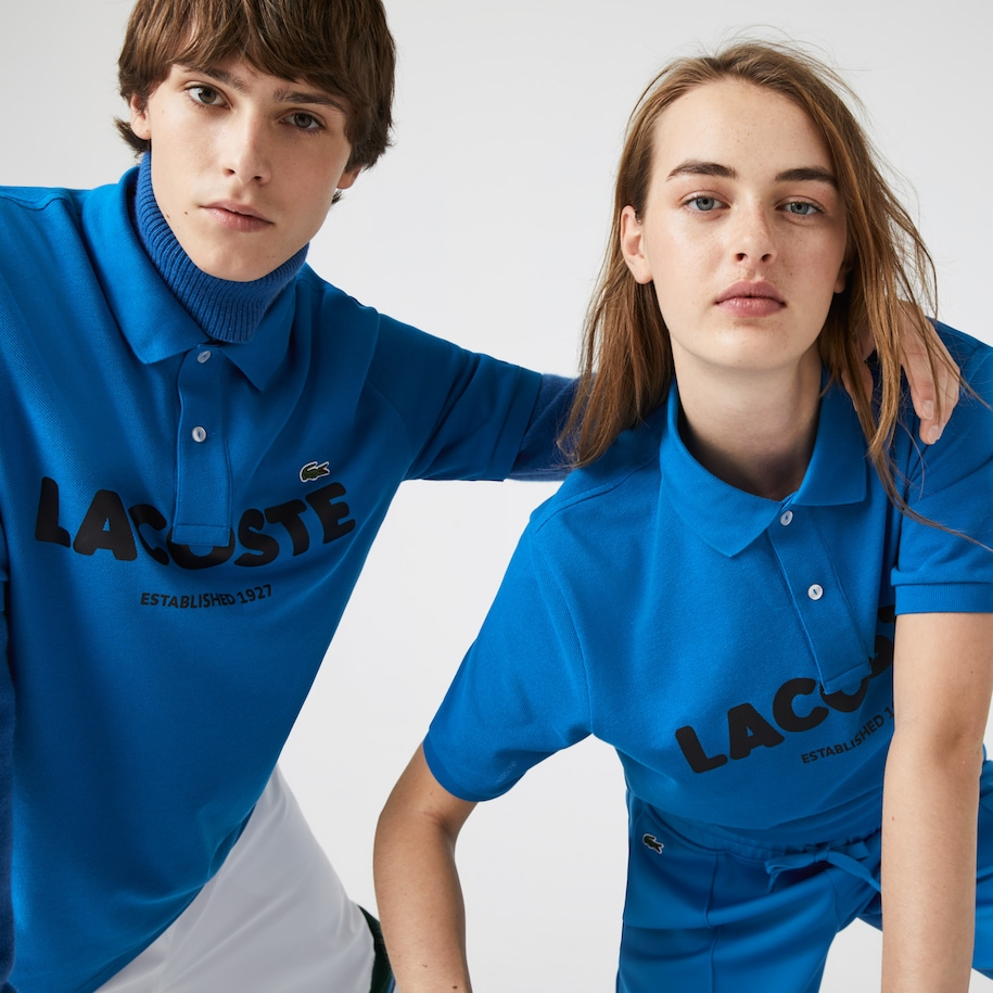 Unisex Lacoste LIVE Loose Fit Branded Cotton Piqué Polo Shirt
