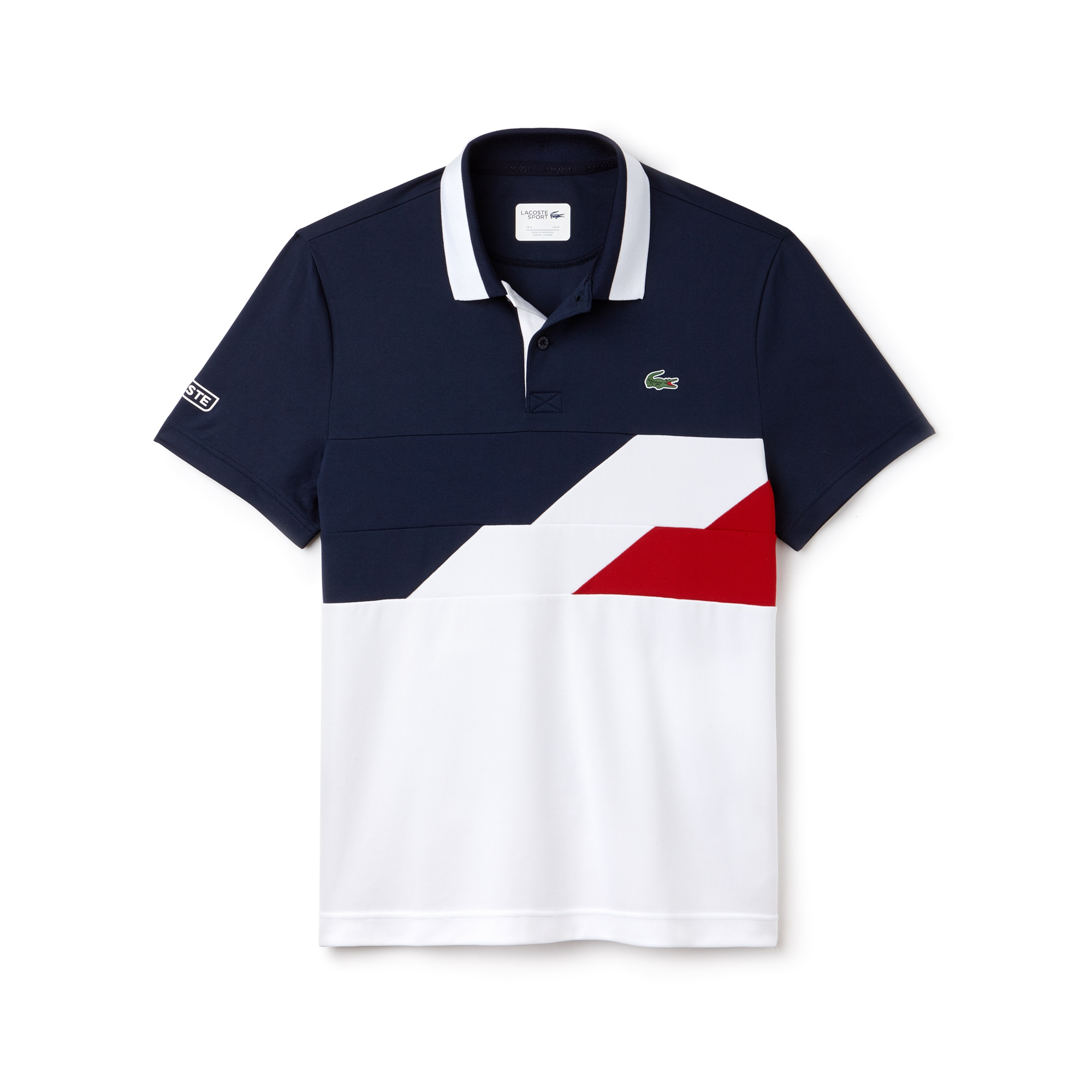 Men's Lacoste SPORT Colorblock Bands Technical Piqué Tennis Polo