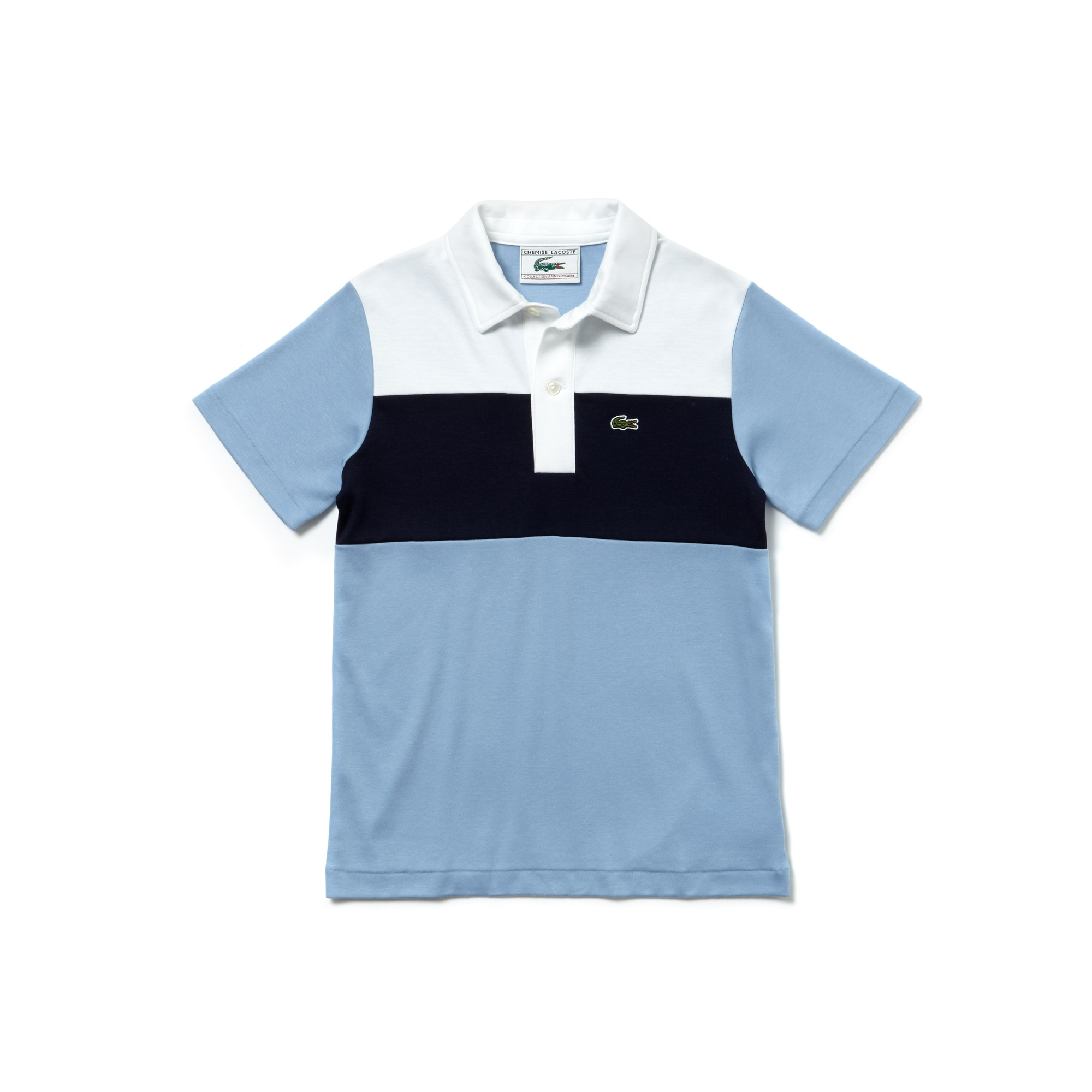 Boys' Lacoste 1970s revival 85th Anniversary Limited Edition Interlock Polo Shirt
