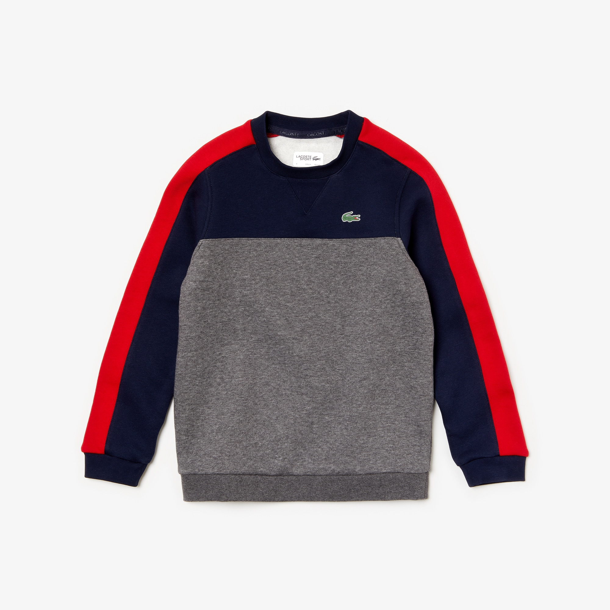Boys' Lacoste SPORT Colourblock Fleece Tennis Sweatshirt