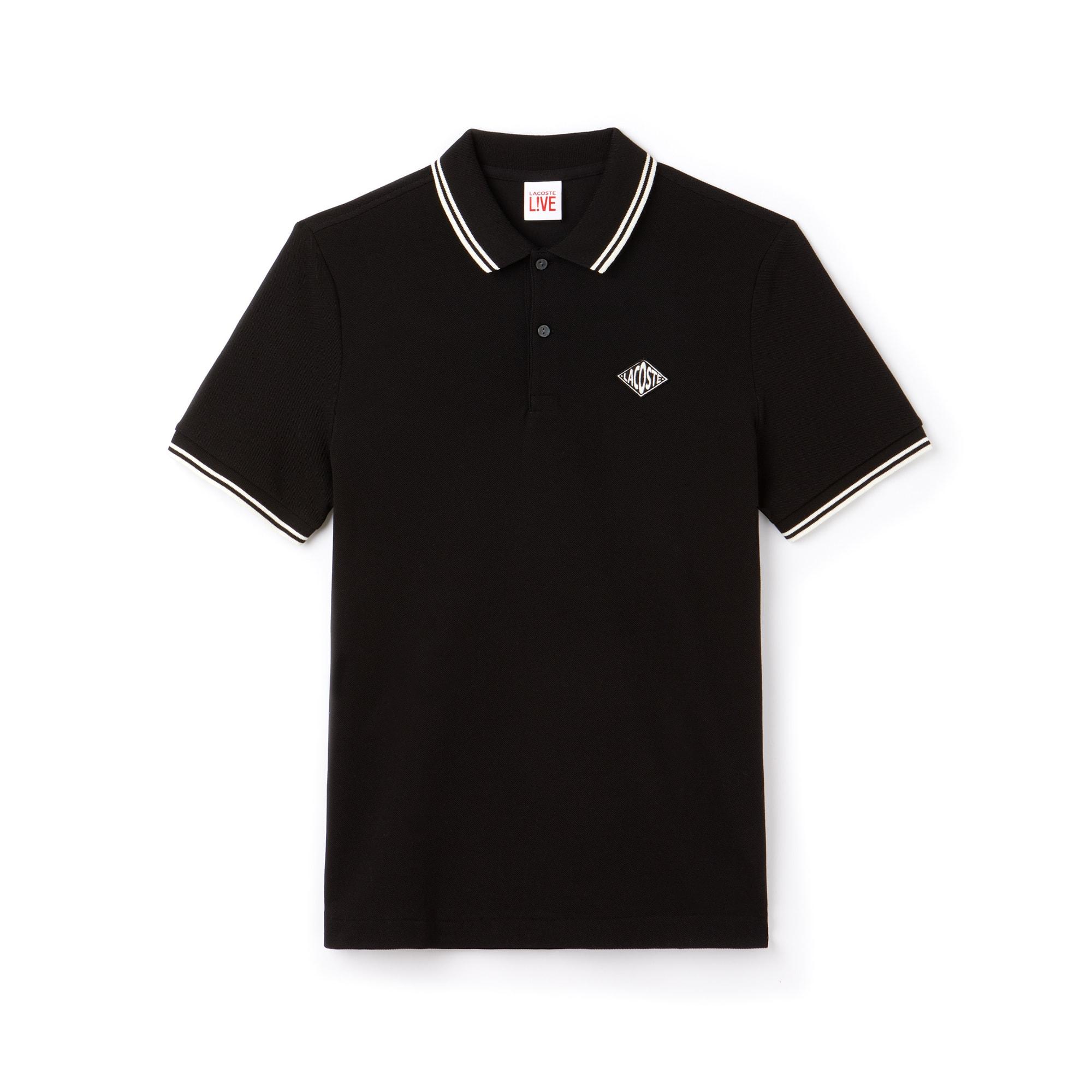 0a7171b4cb020 Men s Lacoste LIVE Slim Fit Bands And Badge Cotton Petit Piqué Polo ...