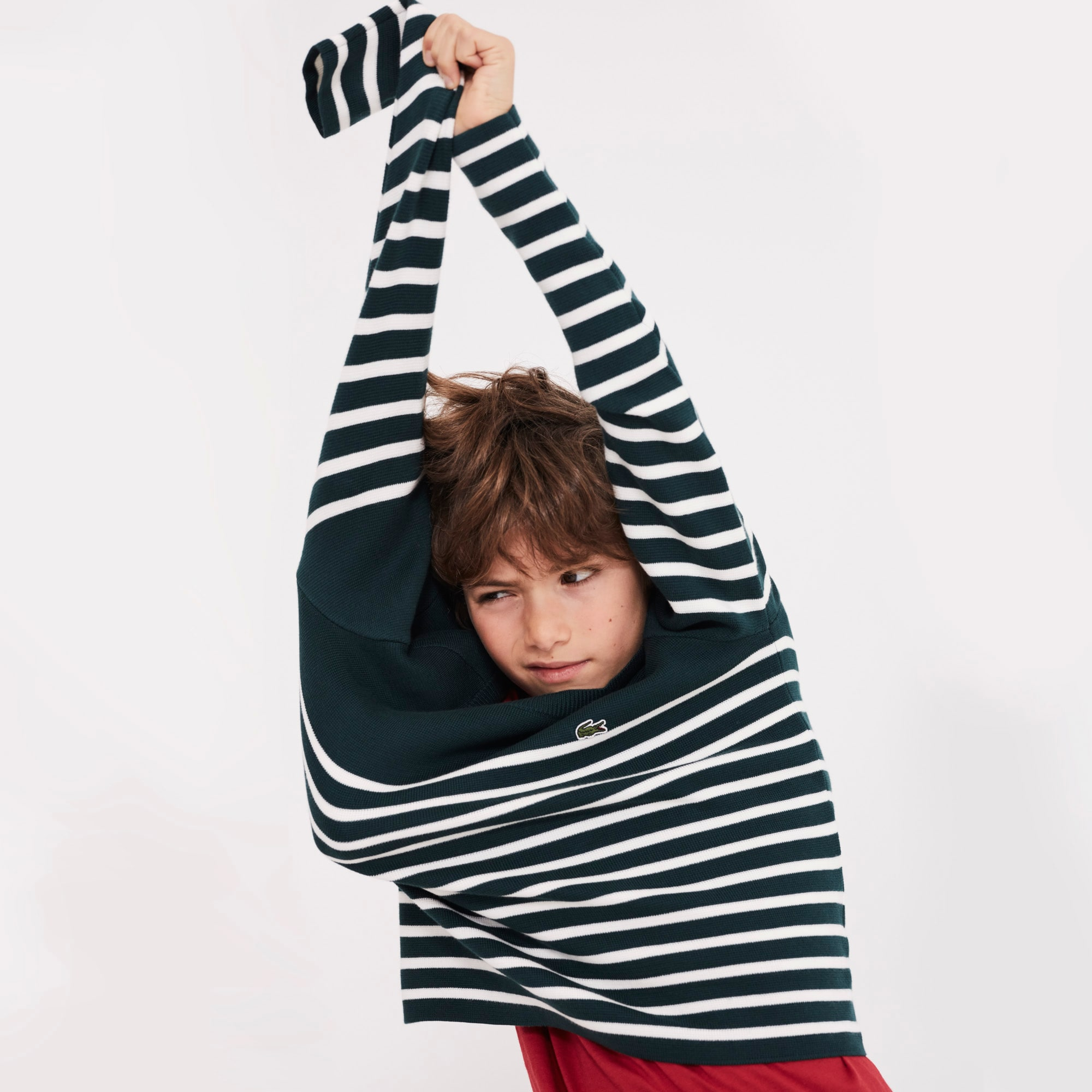 Boys' Crew Neck Striped Milano Cotton Sweater