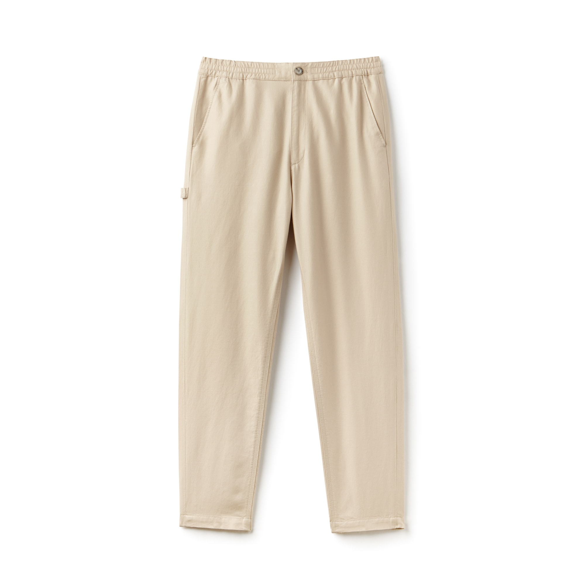 Men's Cotton And Linen Twill Chino Pants