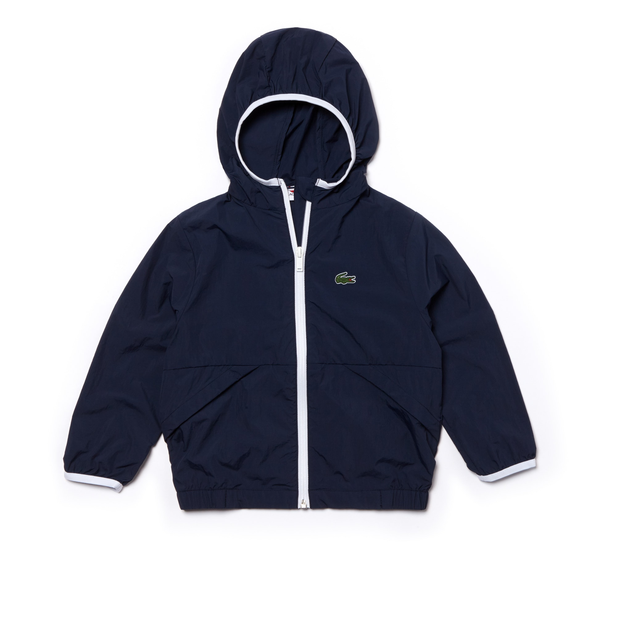 Boys' Contrast Accents Hooded Windbreaker