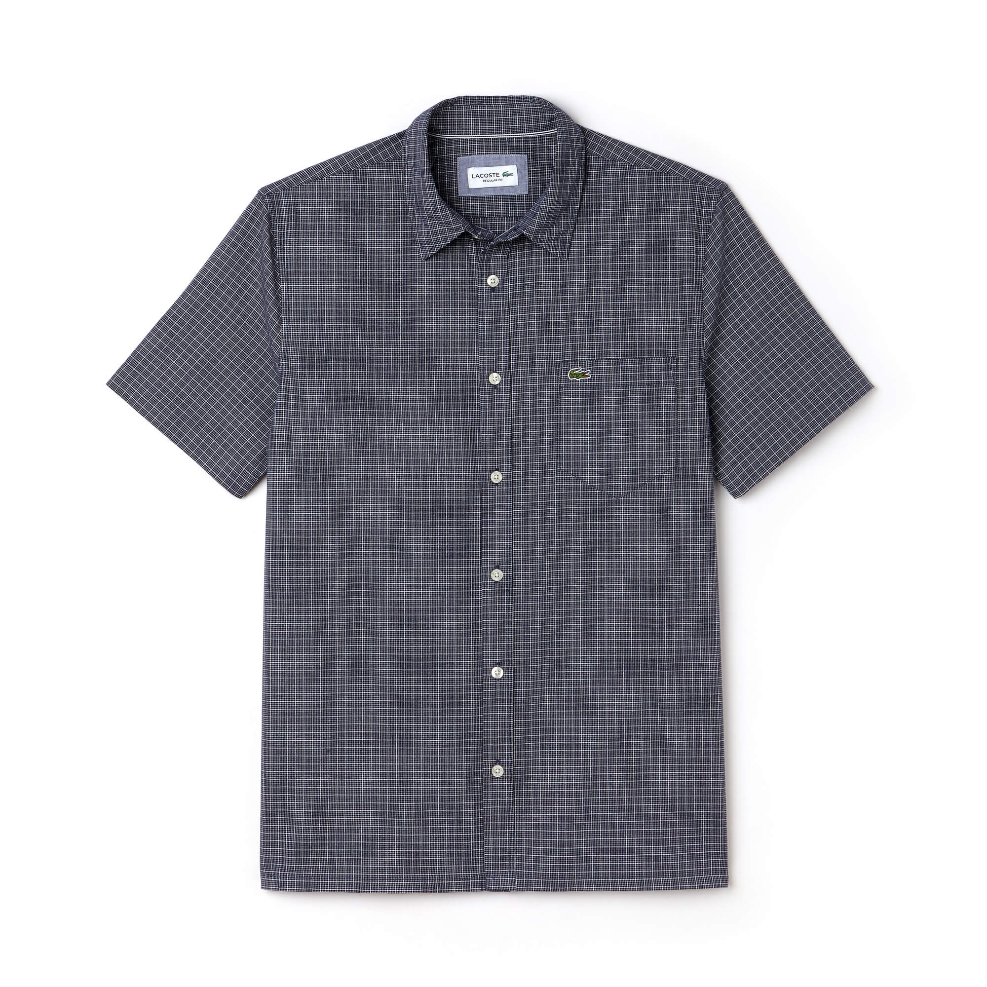 Men's Regular Fit Check Poplin Shirt