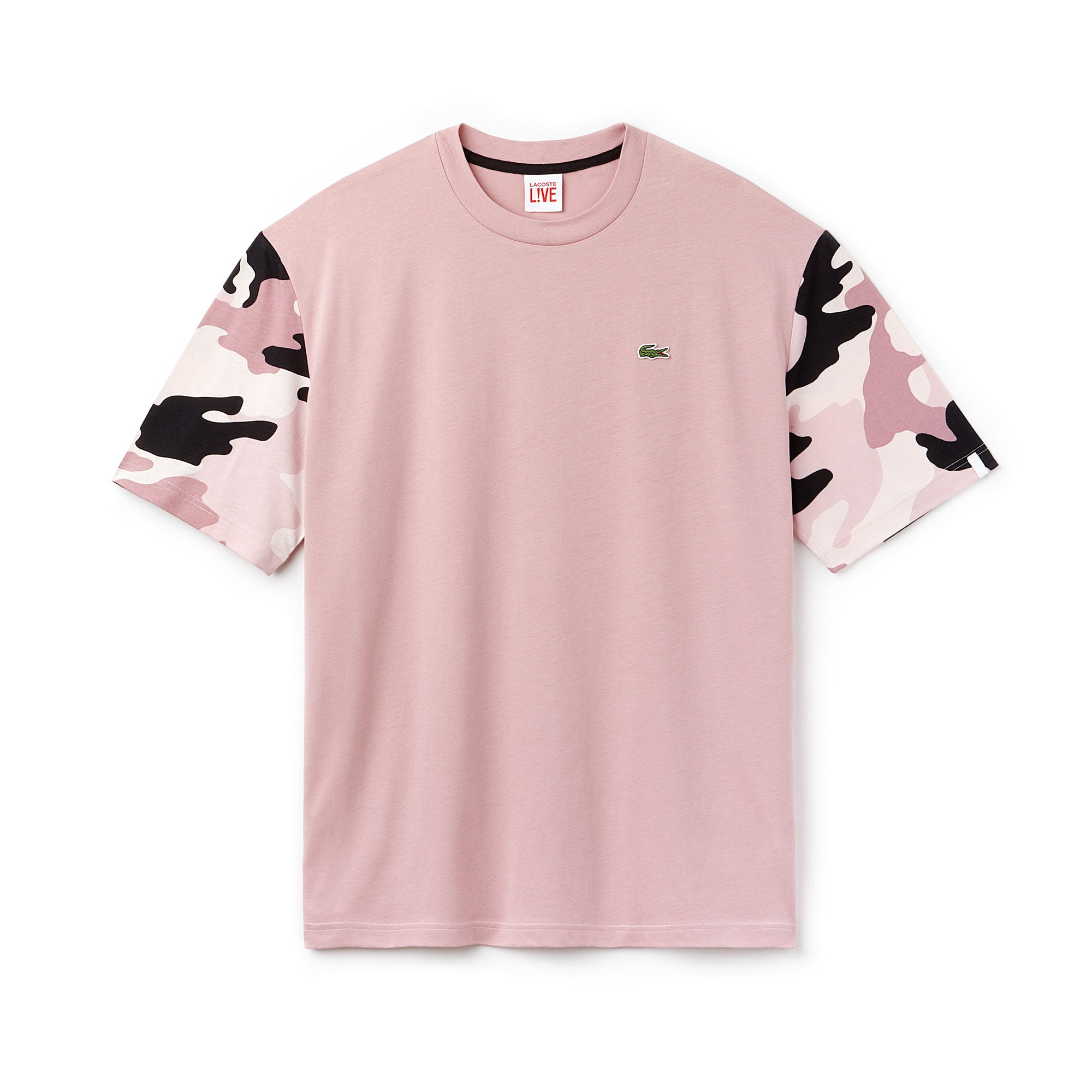 Men's Lacoste LIVE Crew Neck Print Sleeves Jersey T-shirt
