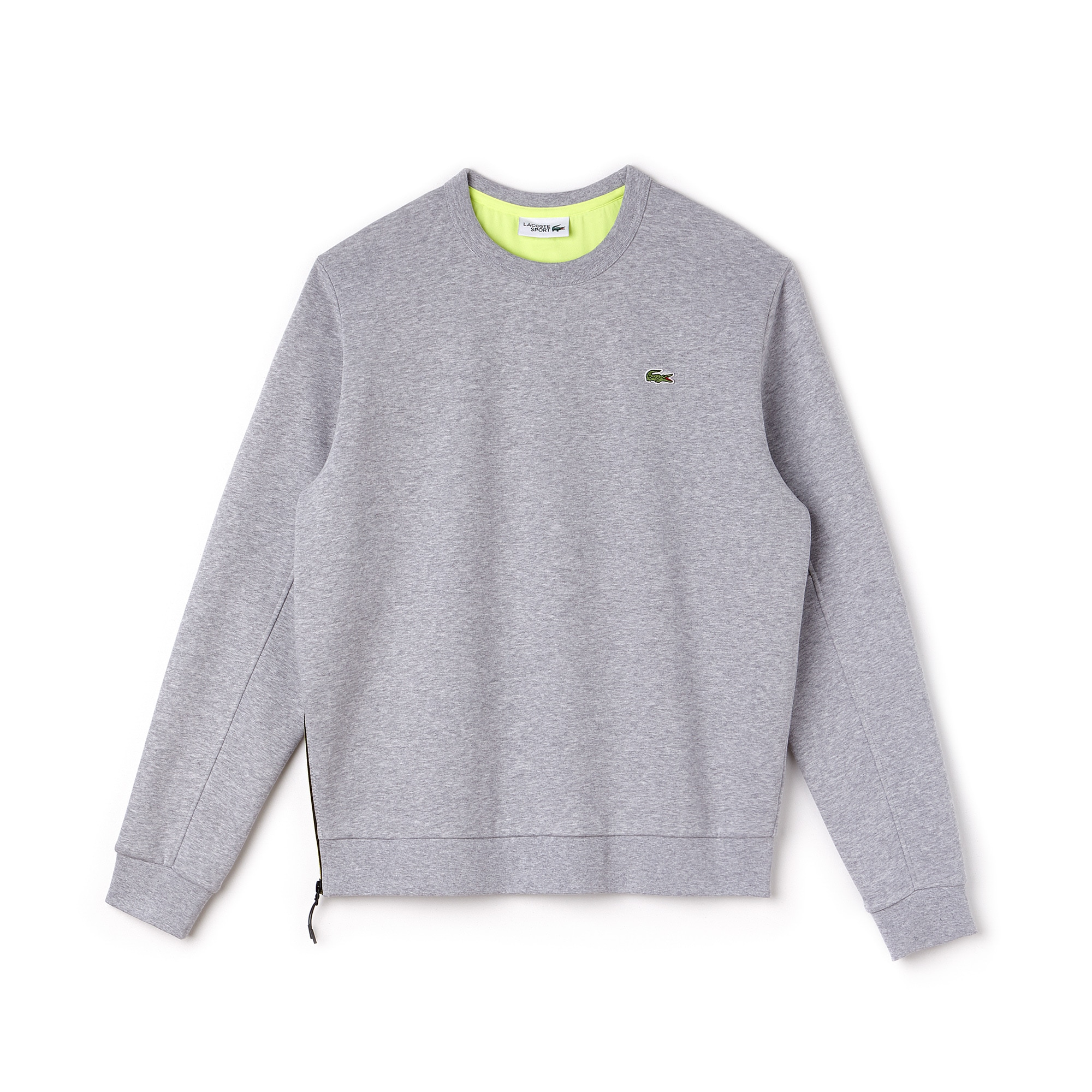 Men's Lacoste SPORT Side Zip Fleece Tennis Sweatshirt