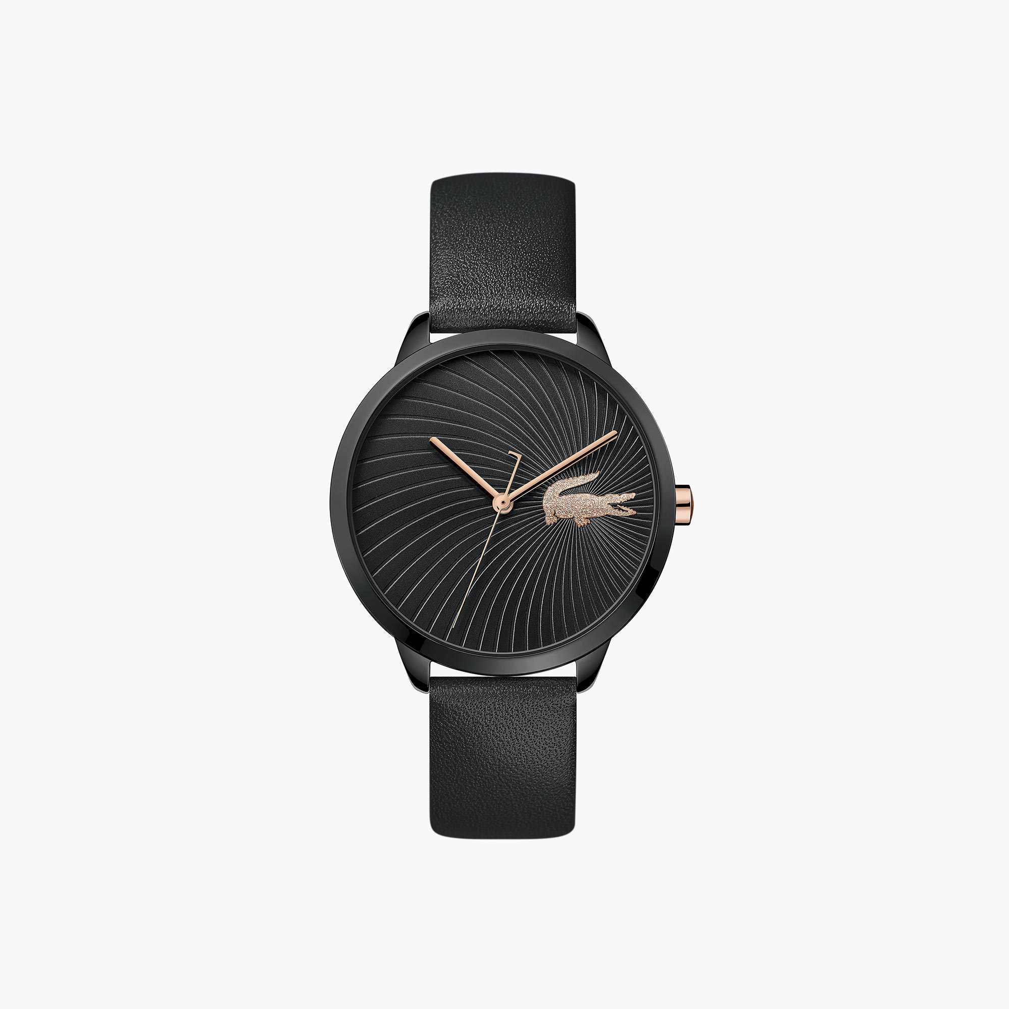 Ladies Lexi Watch with Black Leather Strap
