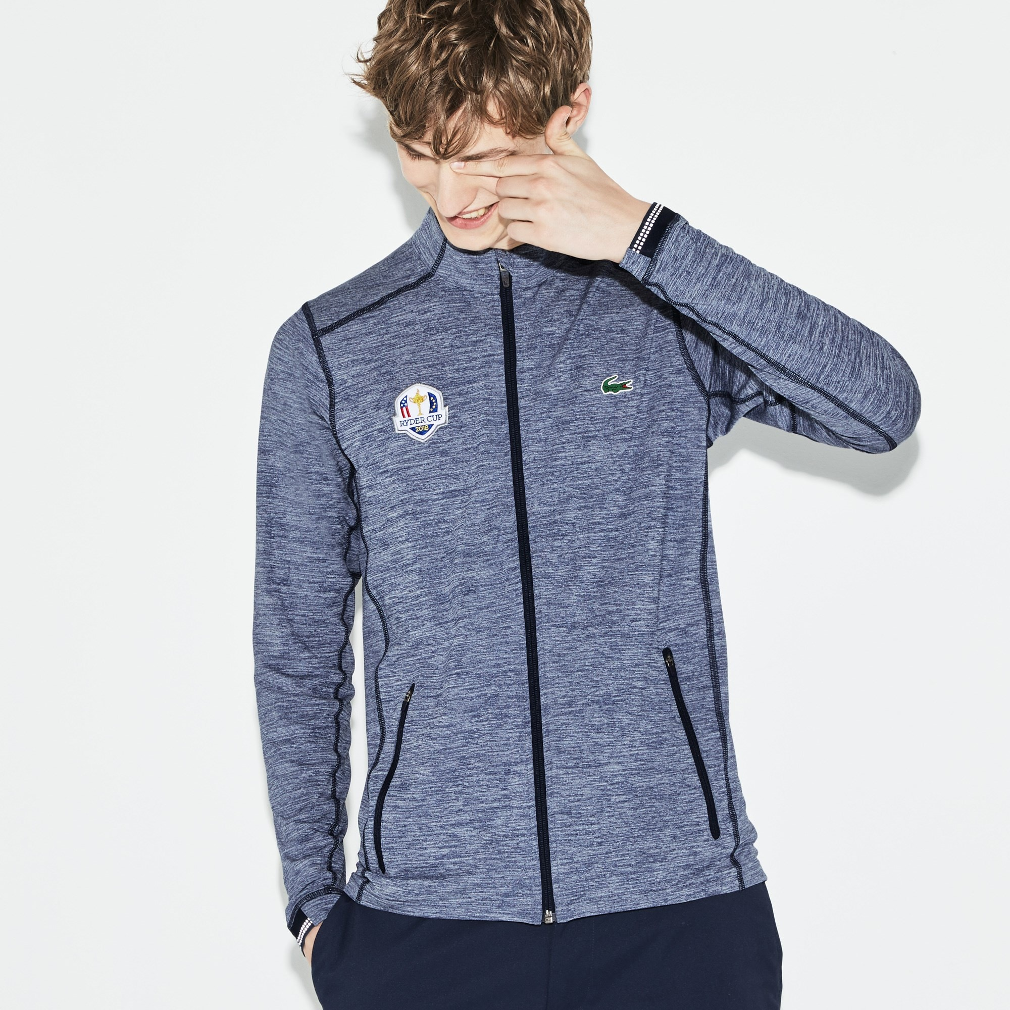 Men's Lacoste SPORT Ryder Cup Edition Zip Midlayer Golf Sweatshirt