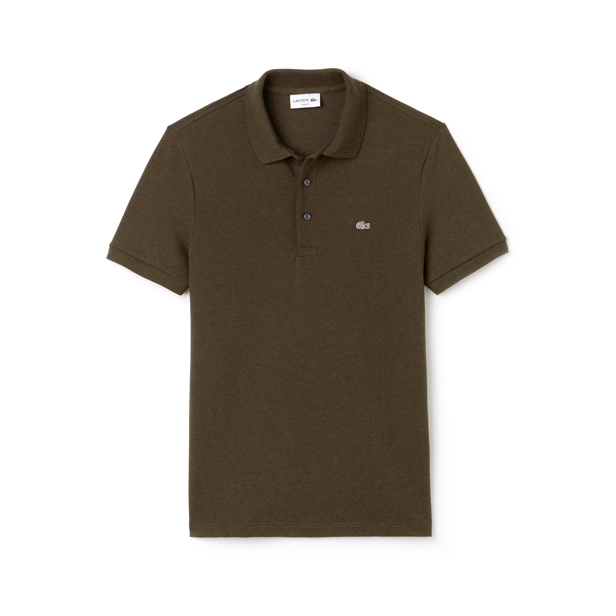 59627905ae7b Men s Slim fit Lacoste Polo Shirt in stretch petit piqué ...