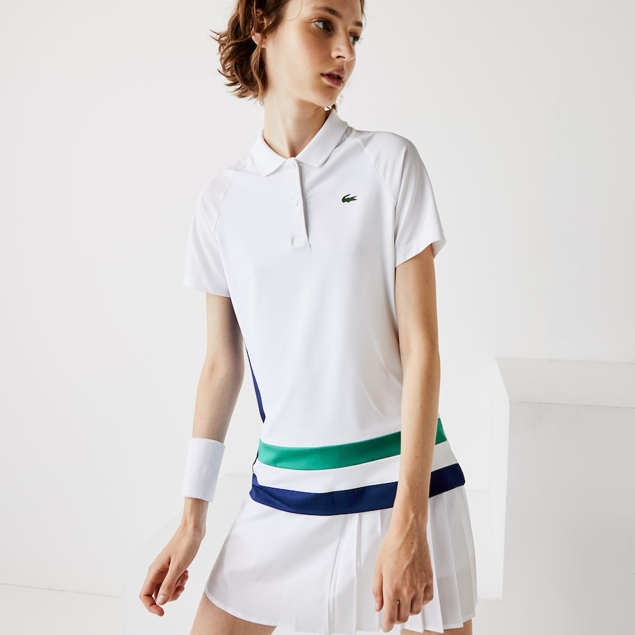 Women's Lacoste SPORT Breathable Stretch Tennis Polo Shirt