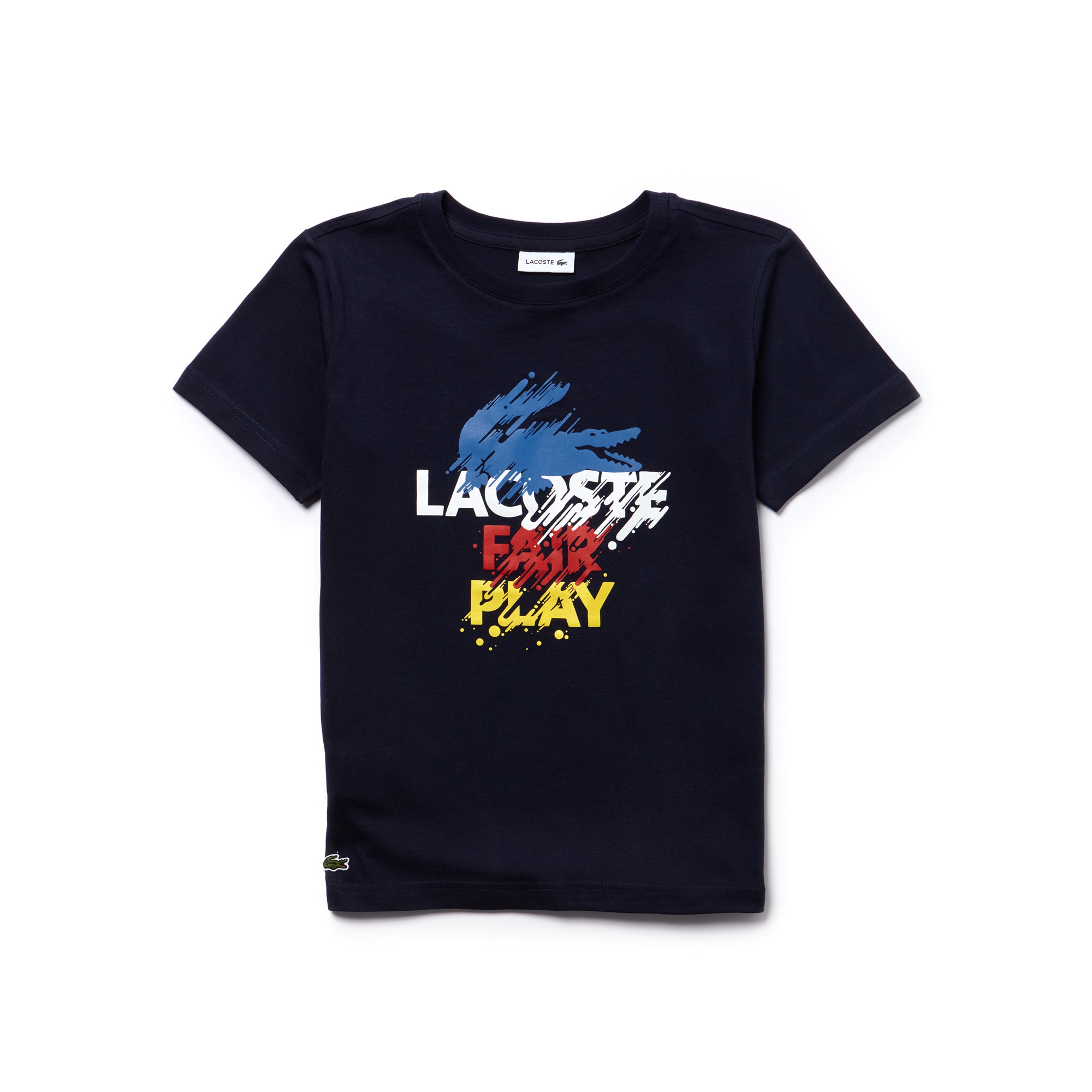 Boys' Colored Placement Print Jersey T-shirt