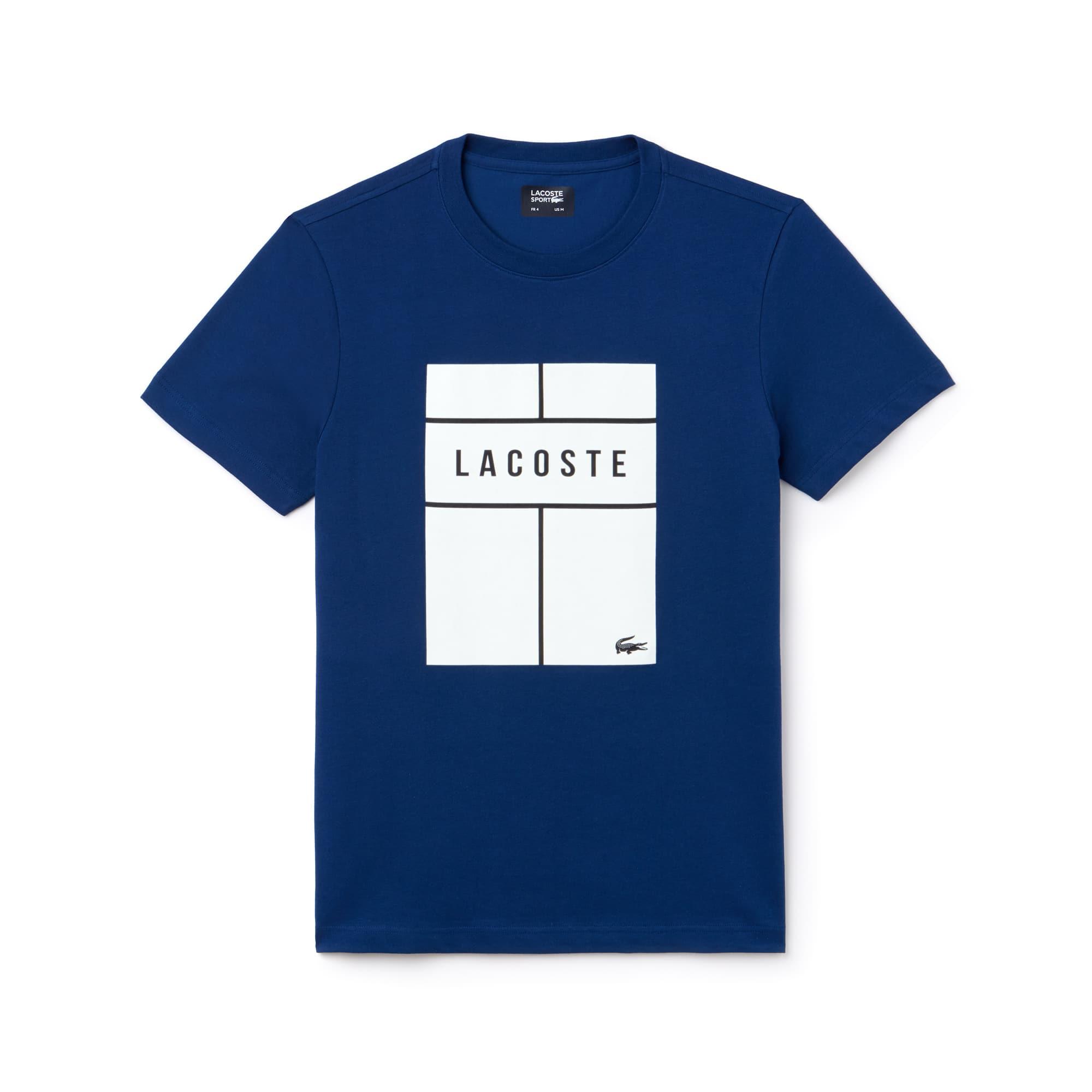 Men's Lacoste SPORT Crew Neck Lettering Jersey Tennis T-shirt