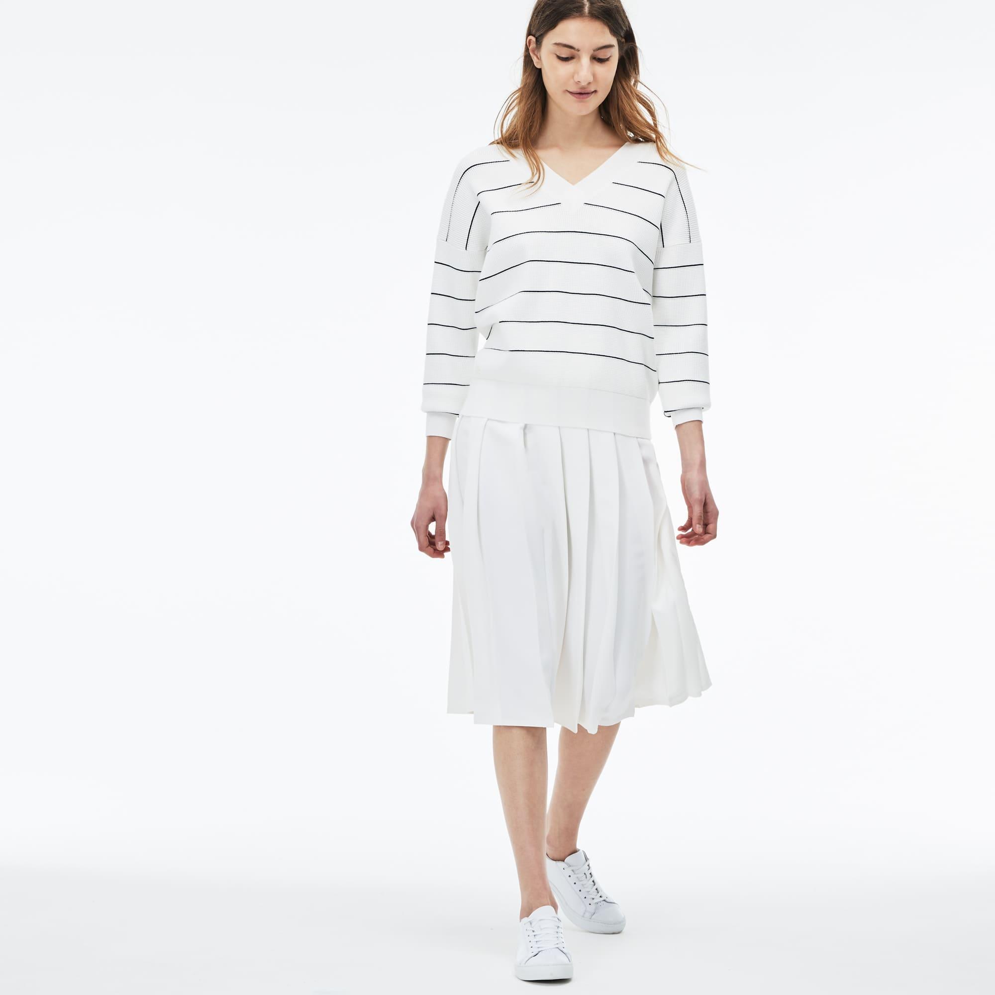 Women's Long Pleated Mousseline Crepe Skirt